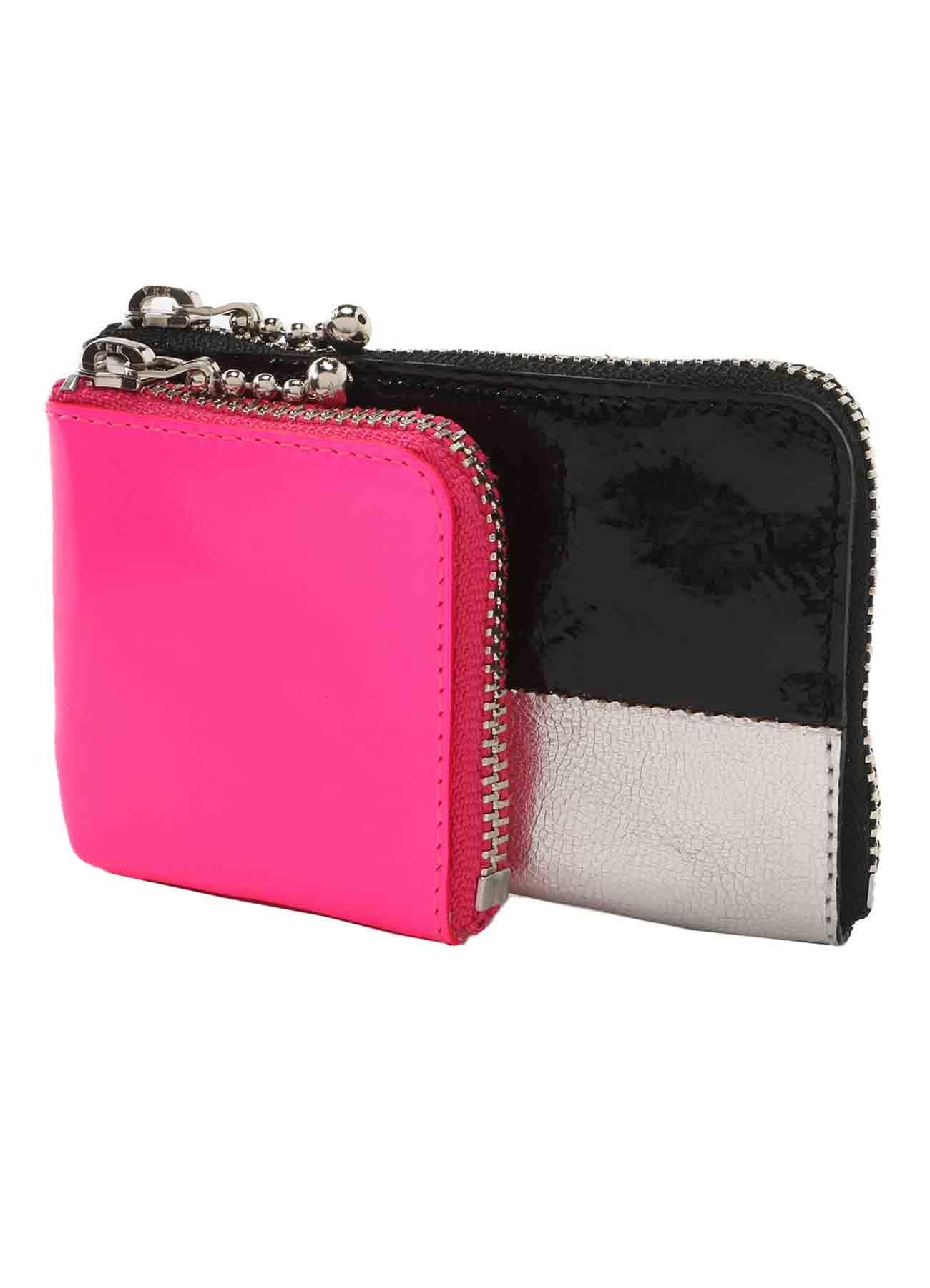 Goat Leather Mix W Mini Wallet