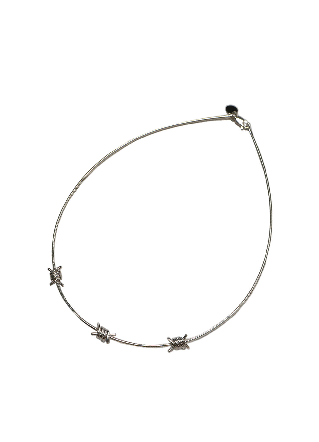 Silver 925 Bare Wire Necklace
