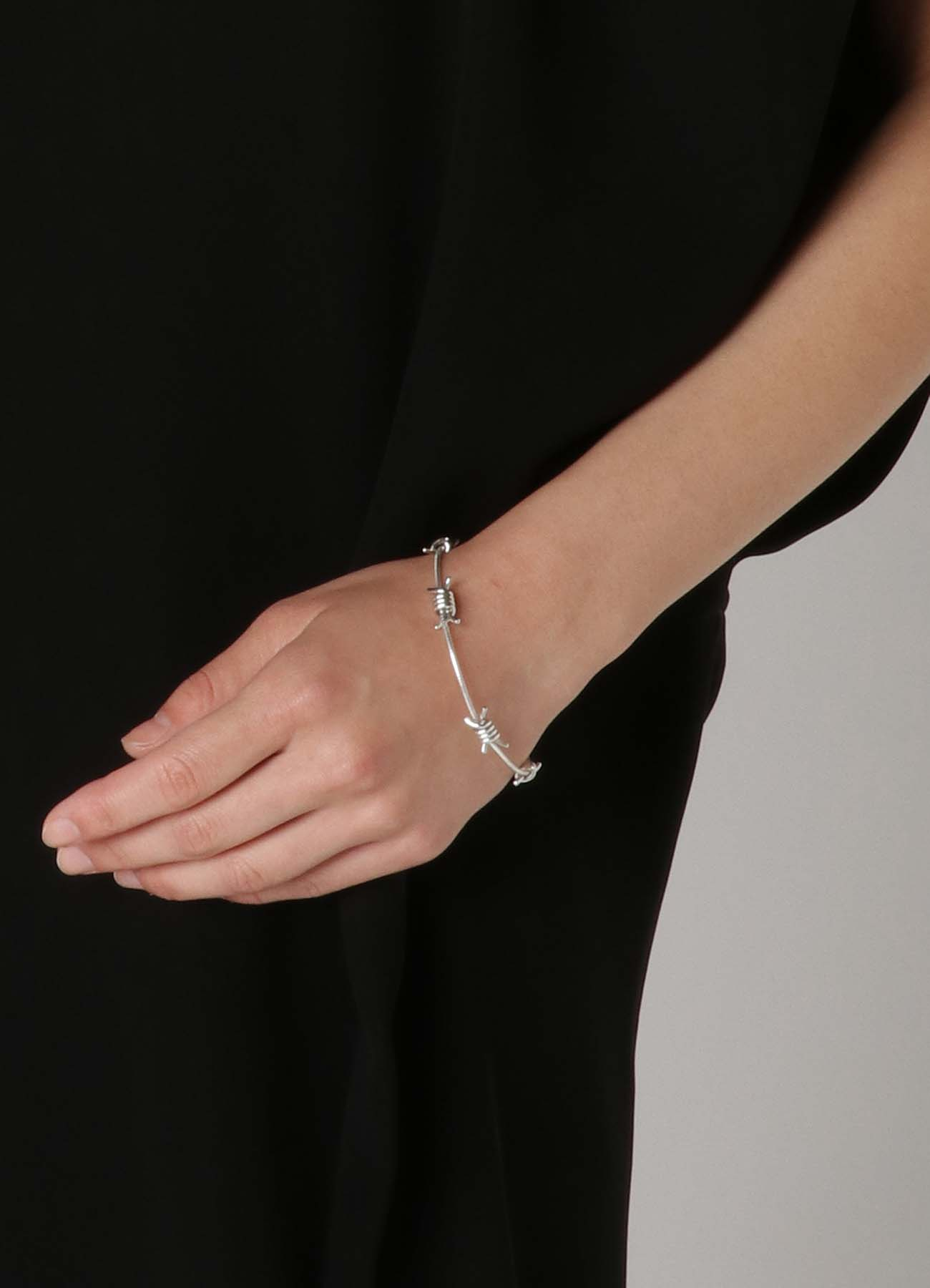 Silver 925 Bare Wire Bracelet