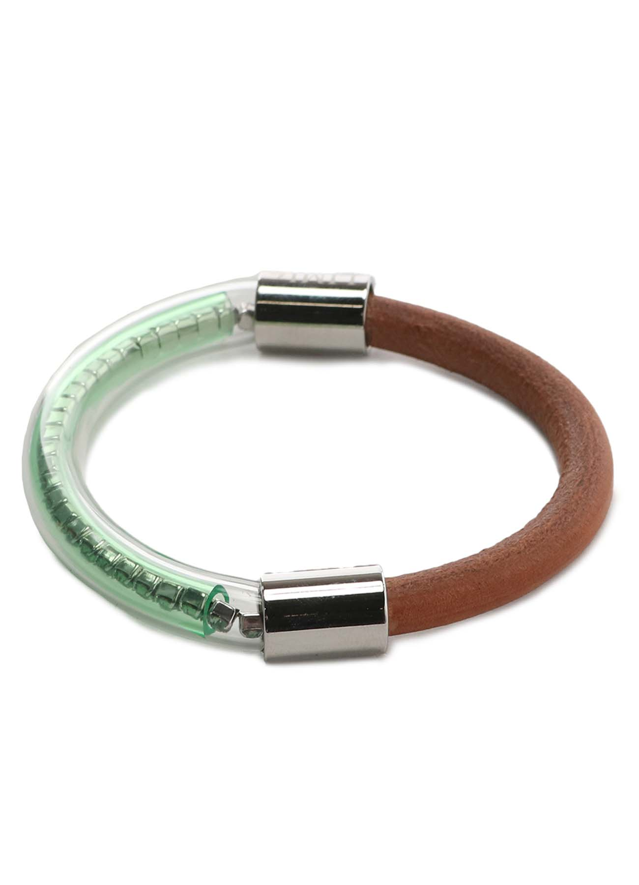 Leather Cord Tube Bracelet