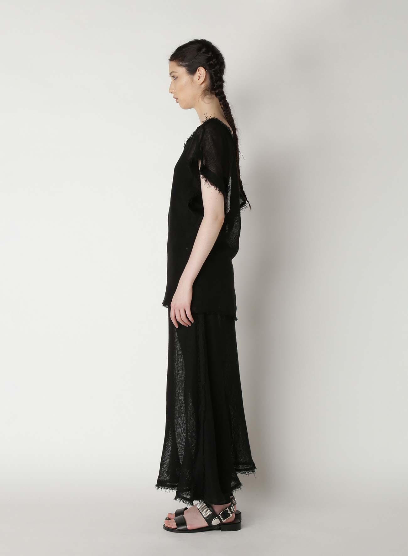Linen Leno Asymmetry Blouse