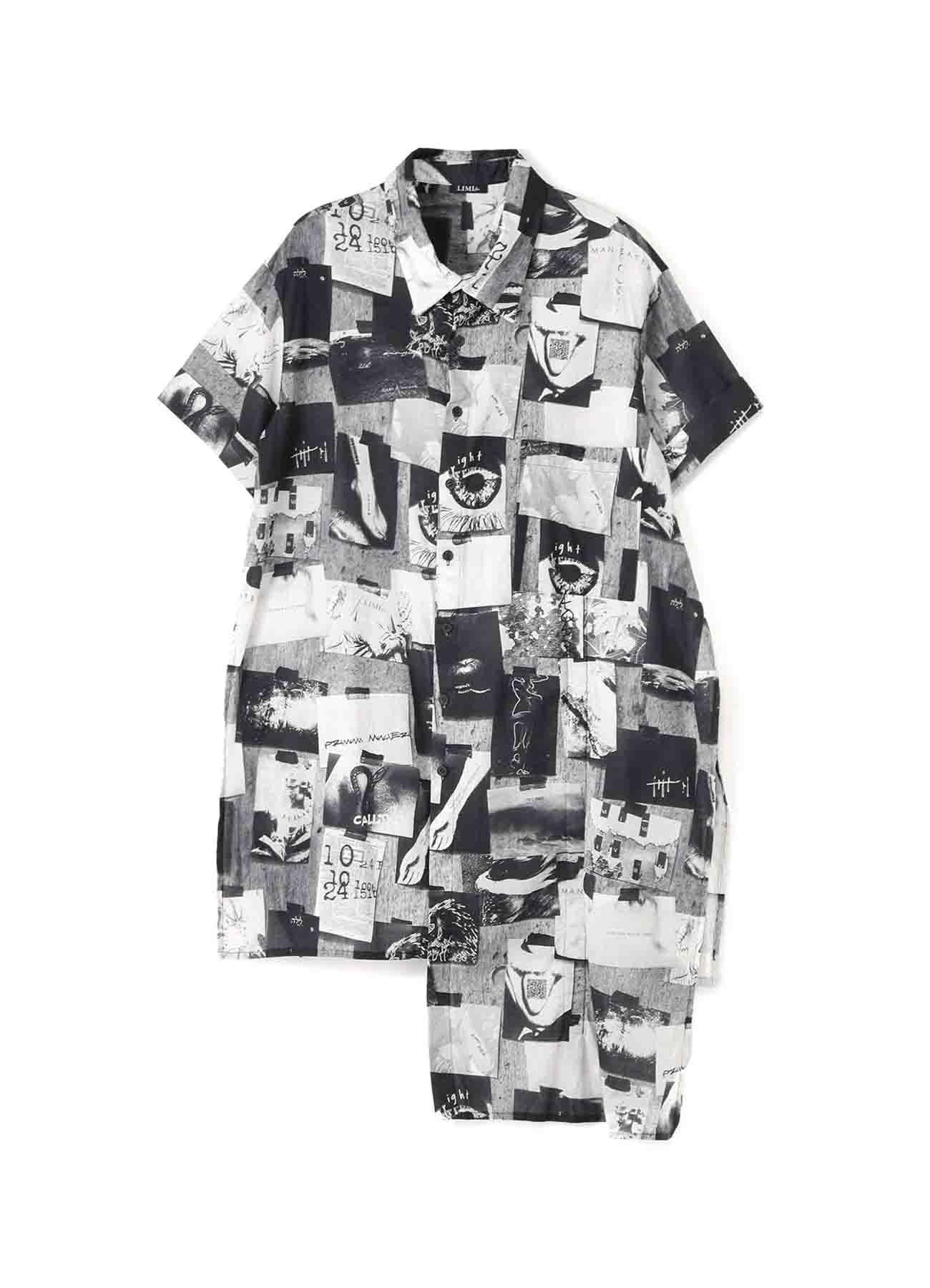 2021 Material Print Compass 2Way Half Sleeve Shirt