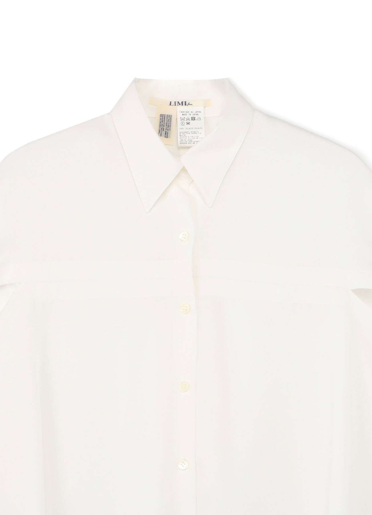 Soft Gabardine Deformation Yoke shirt