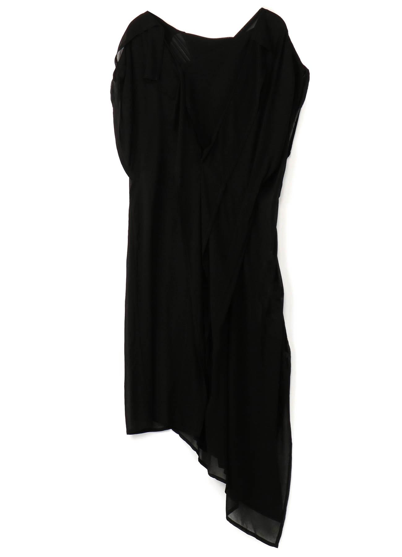 Cu/Chiffon Square Design Dress