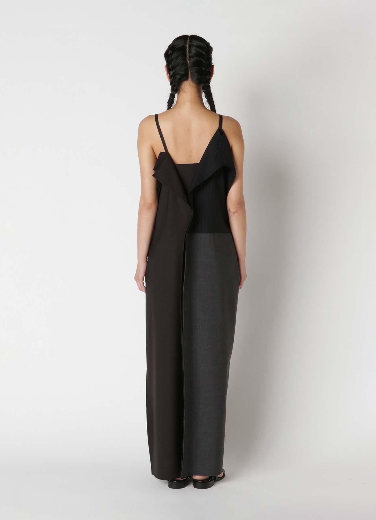 Tropical + Stripe mix Square Cami Dress