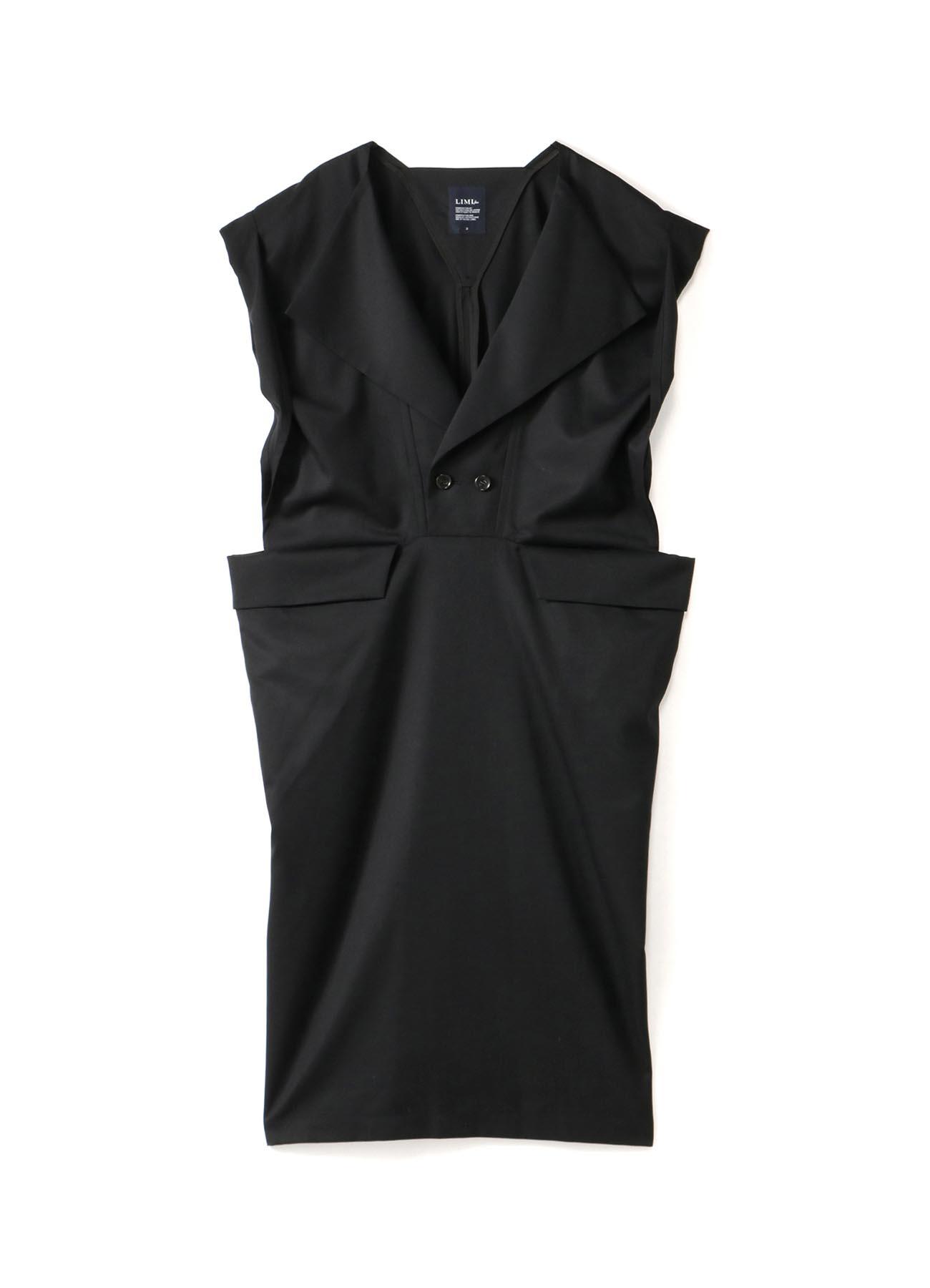 W/Gabardine Square W Front Dress