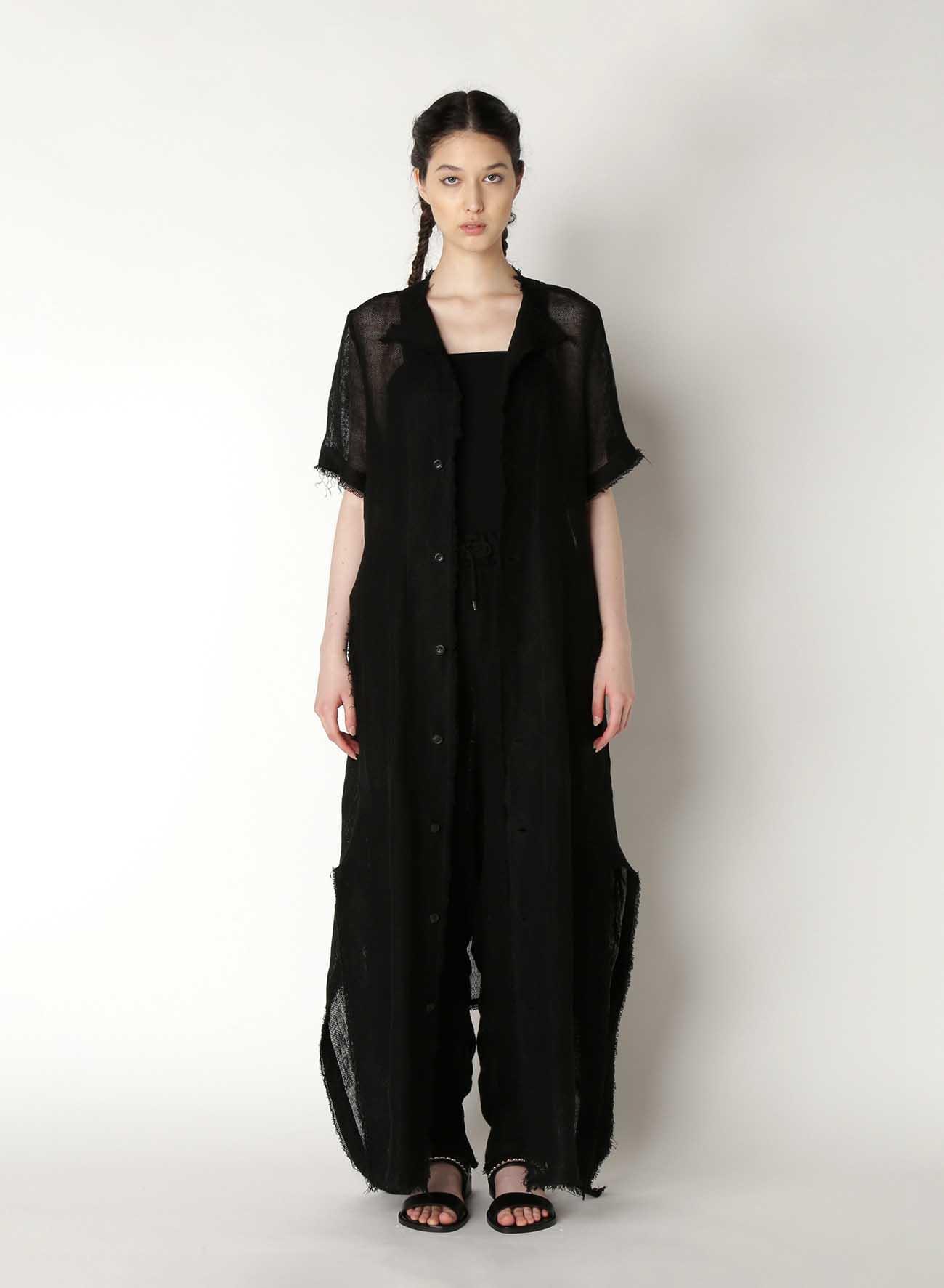 Linen Leno Tailored Dress A