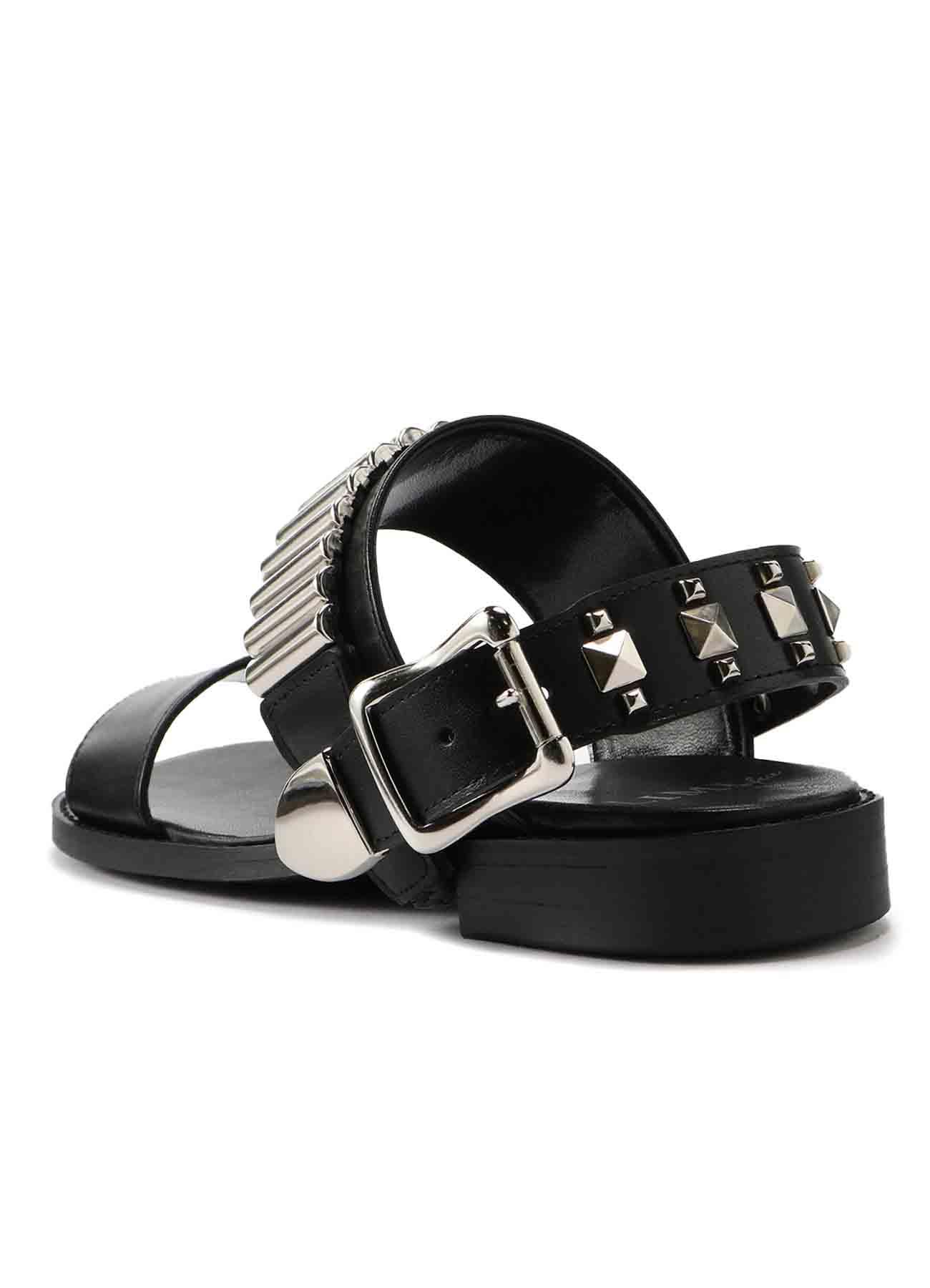 Smooth Leather 2 Way Rivet Sandal