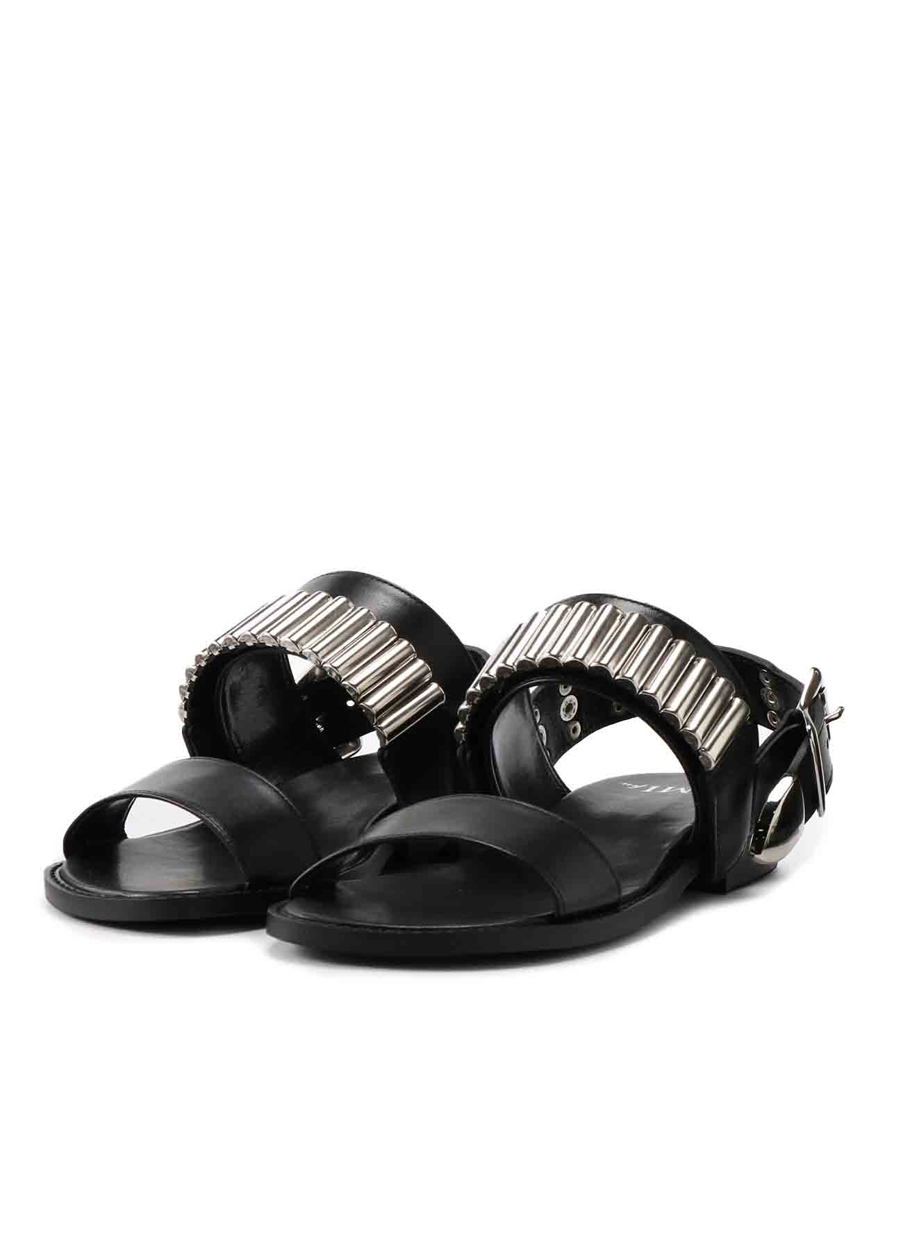 Smooth Leather 2 Way Rivet Sandal