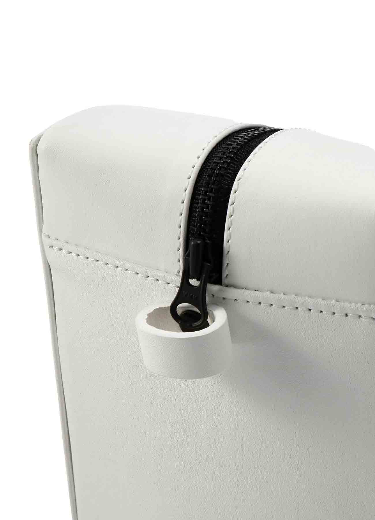 Rubber Touch Leather B Semi Circle Bag