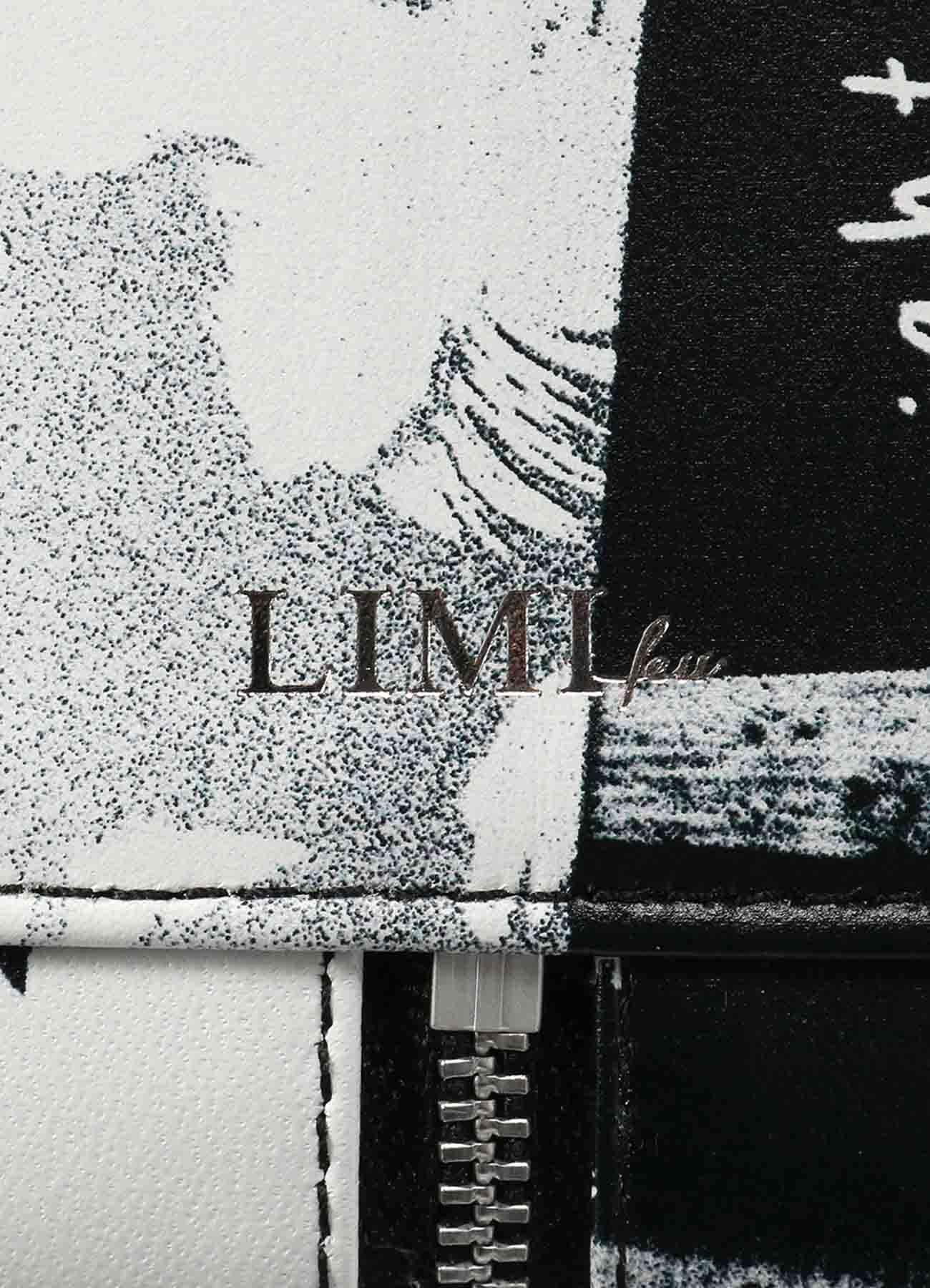 2021 Material Print Leather C Mini Semi Circle Bag