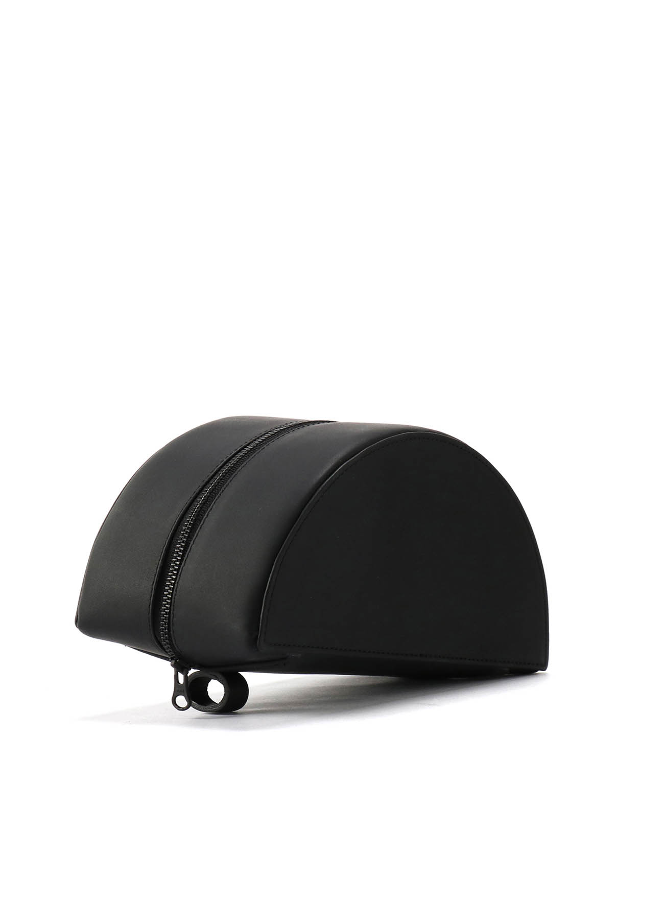 Rubber Touch Leather B Mini Semi Circle Bag