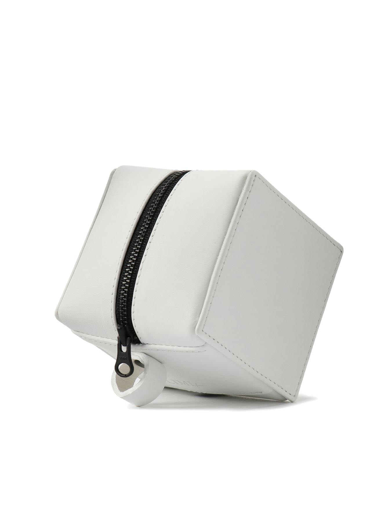 Rubber Touch Leather B Mini Cube Bag