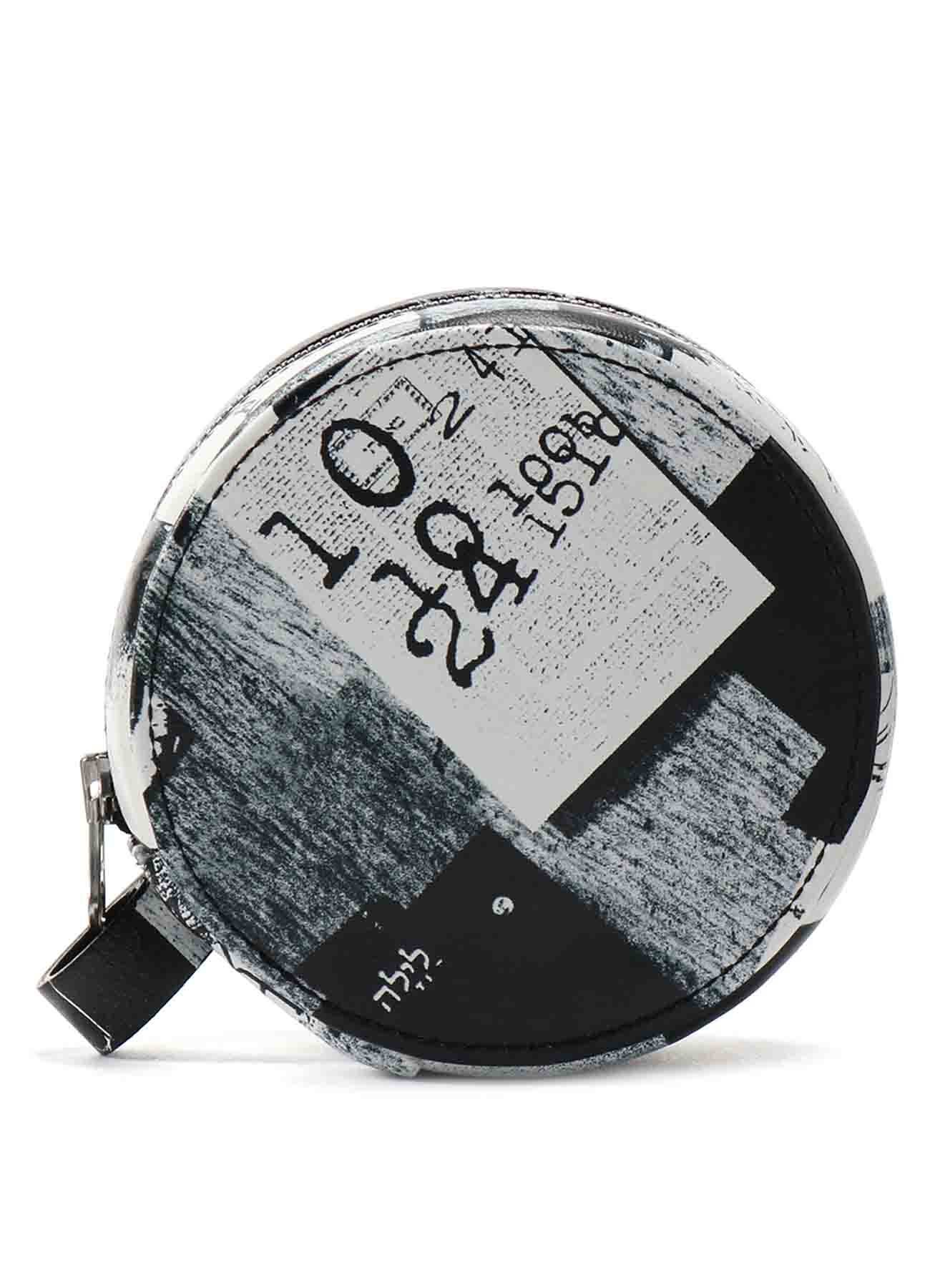 2021 Material Print Leather C Mini Circle Bag