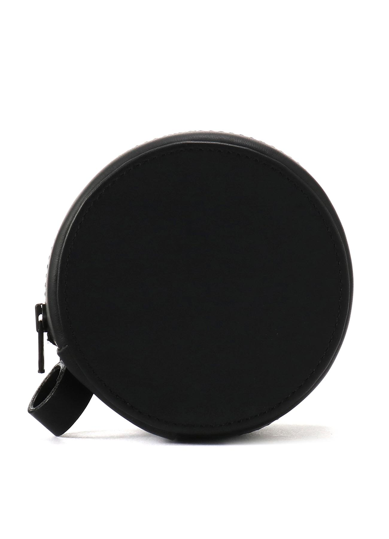 Rubber Touch Leather B Mini Circle Bag