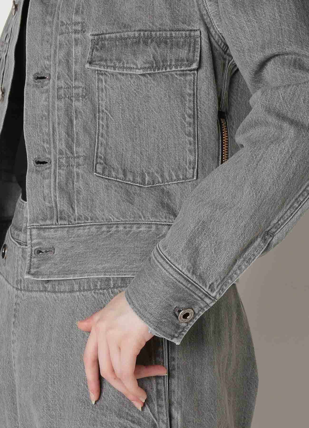 Grey Denim Denim Jacket