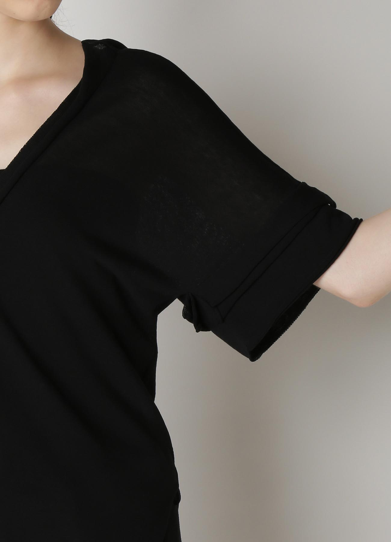 Cotton Strong twisted Plain Stitch Flowy Cardigan