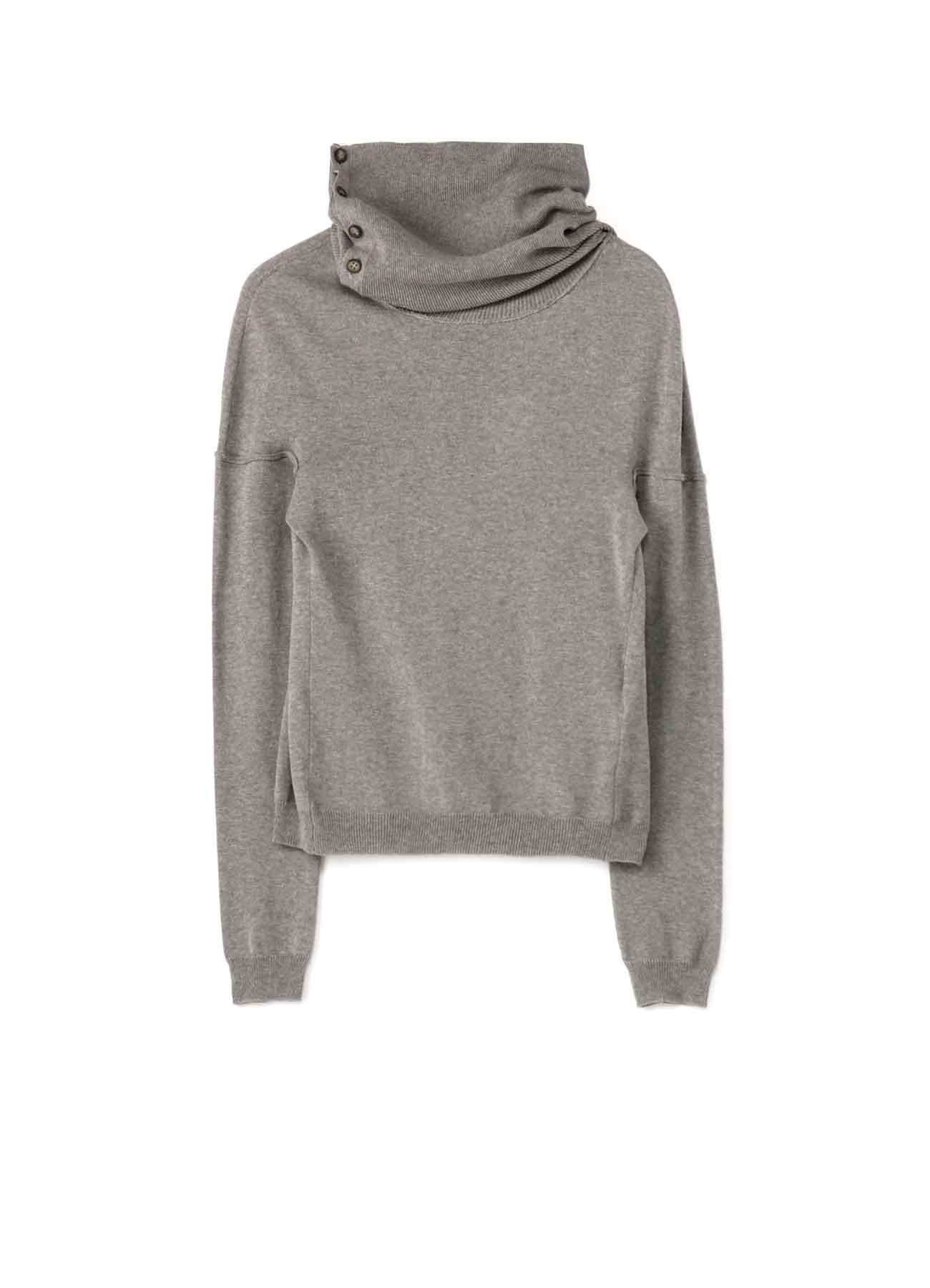 40/2 Cotton Strong twisted Plain Stitch 2Way Sweater