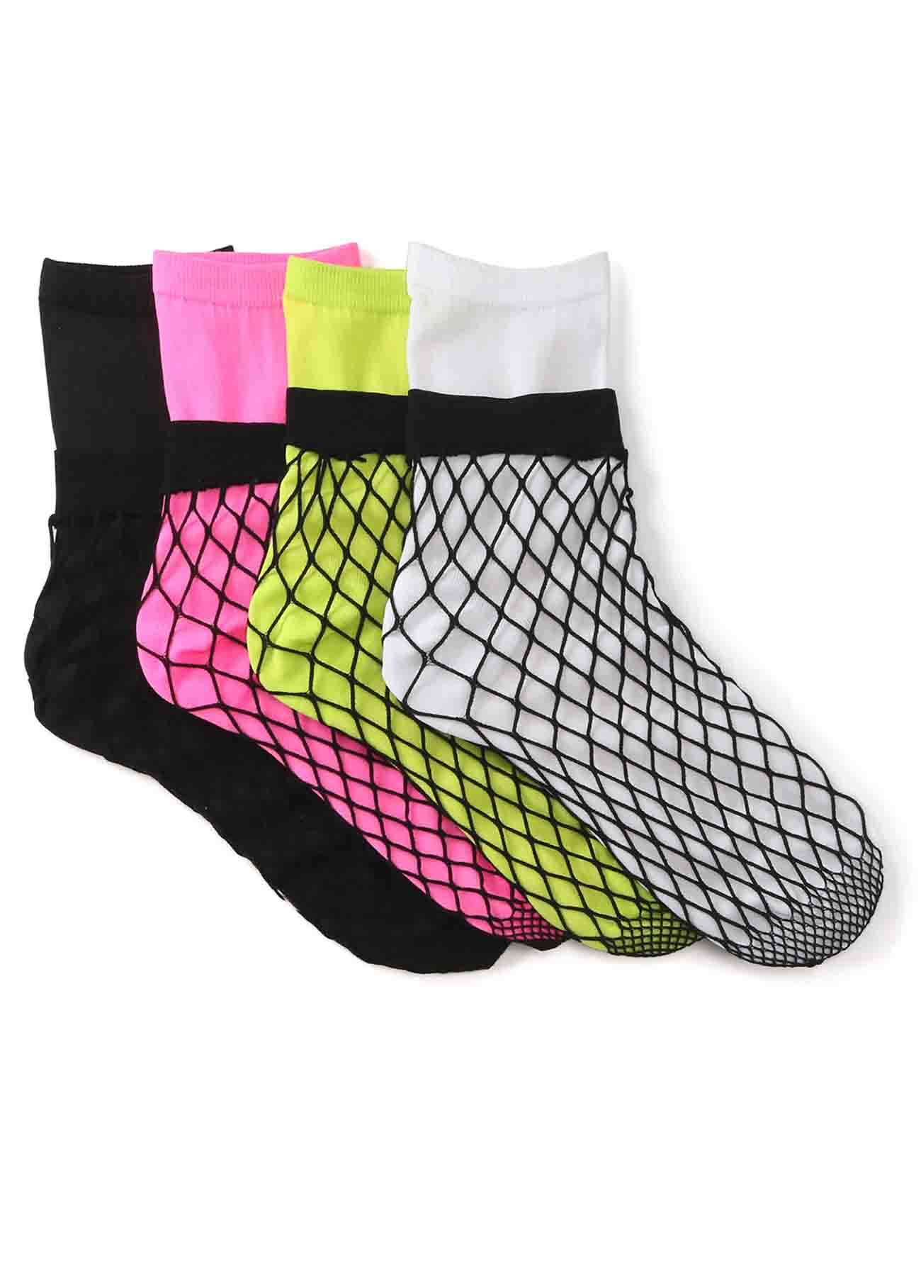 Ny/Pu Yarn Net Layered Socks