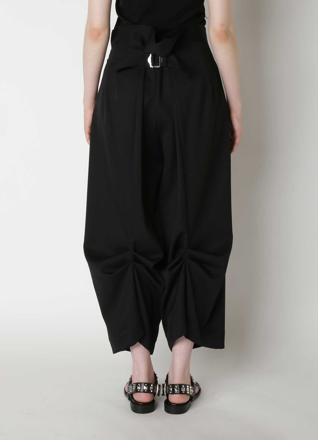 W/Gabardine Design Tuck Pants