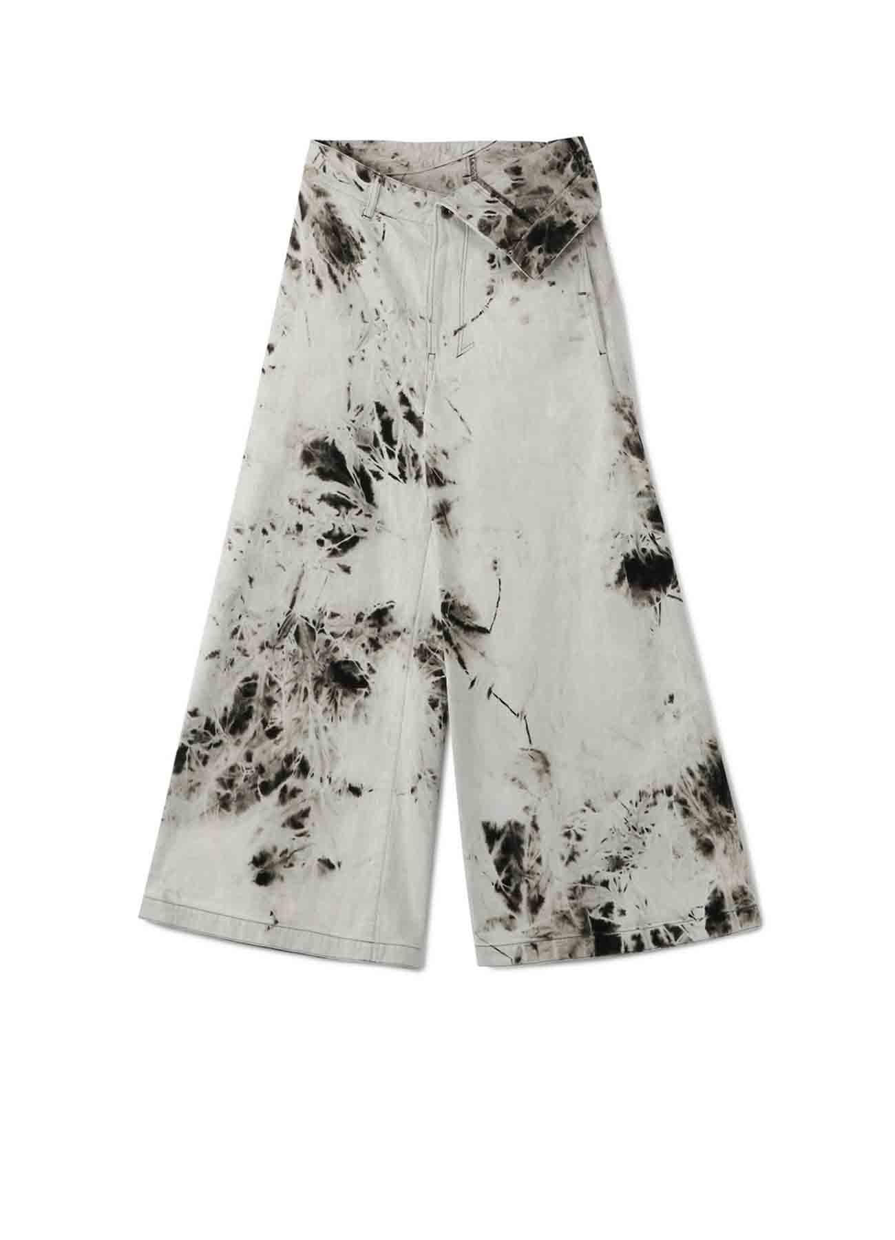 Hard Bleach Waist Fold Pants