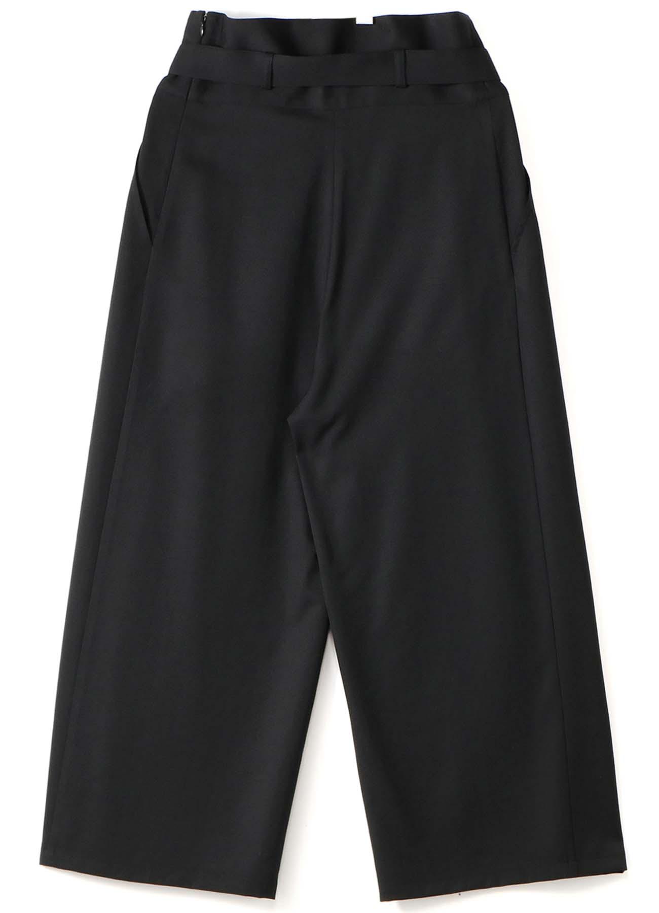 W/Gabardine Belt Wide Pants