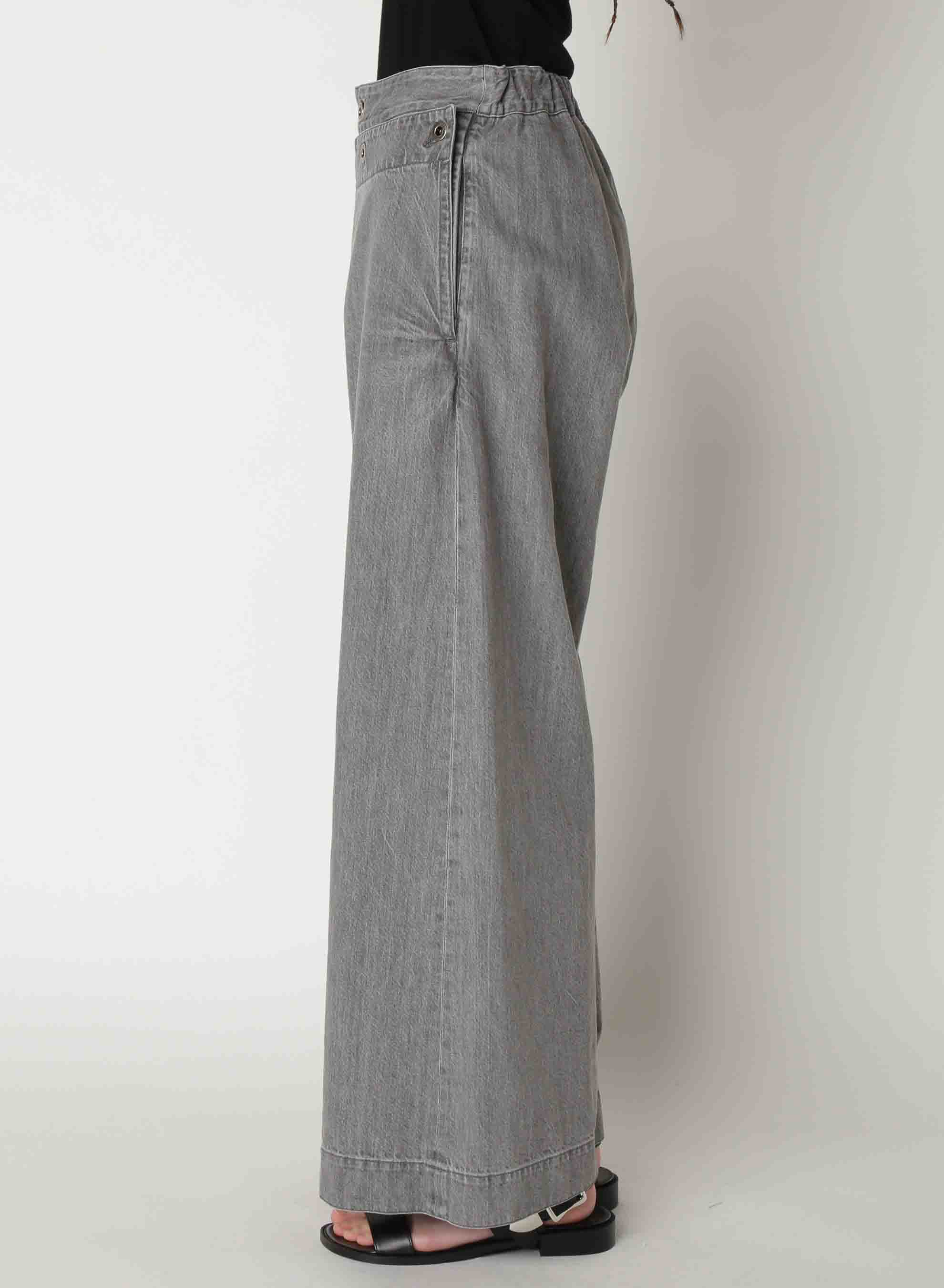 Grey Denim Marine Pants