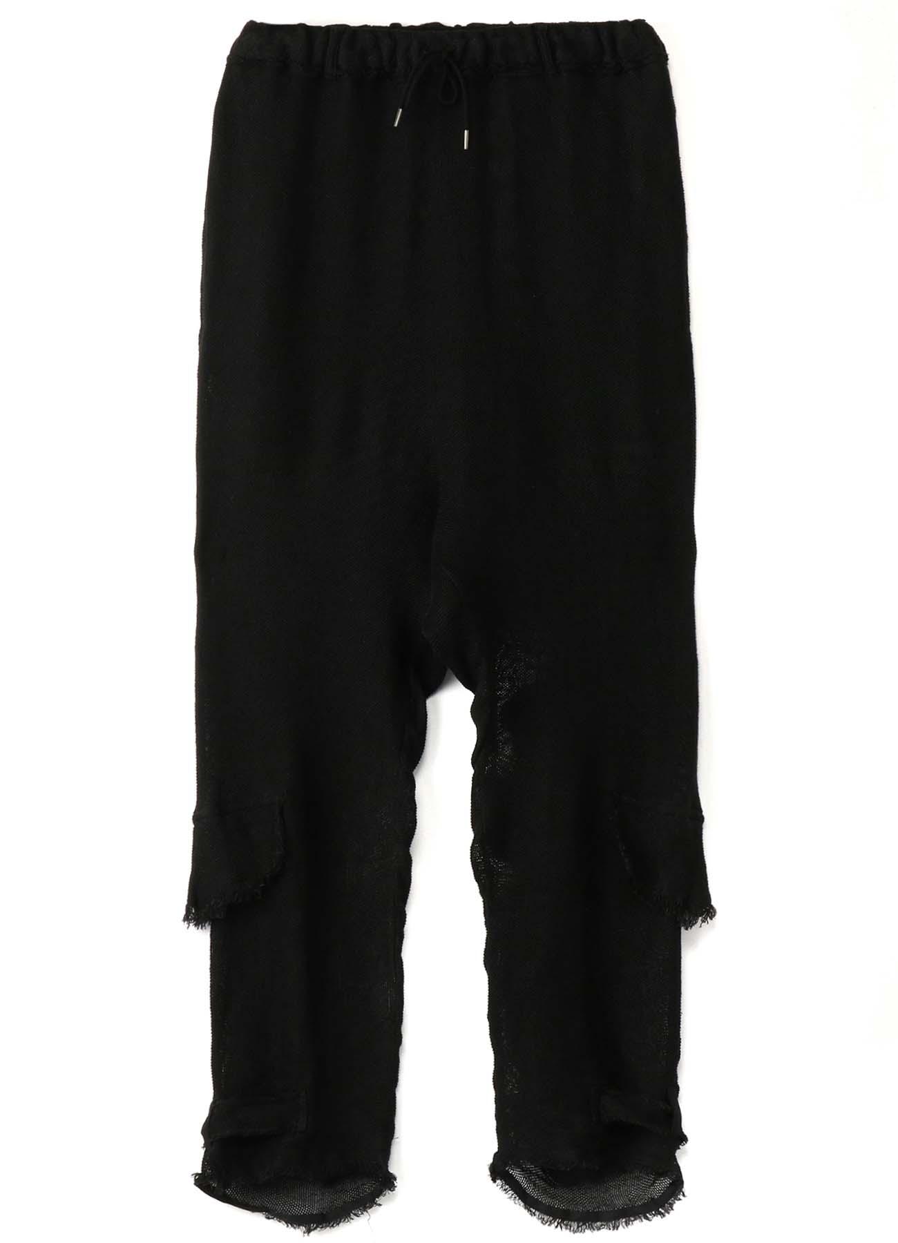 Linen Leno Hem Gather Pants