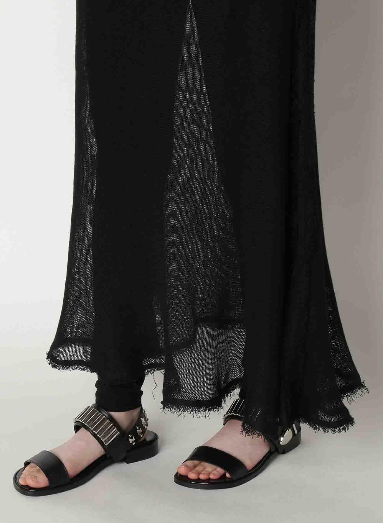 Linen Leno Asymmetry Hanging Skirt