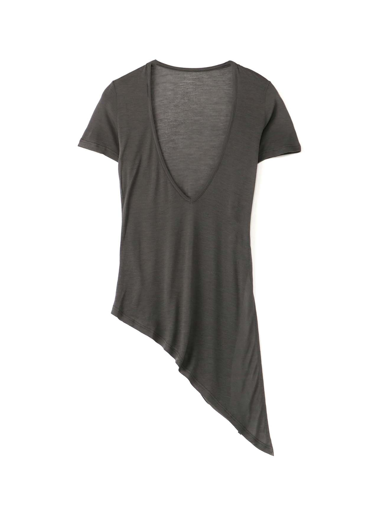 Ry/Si Plain Stitch V-Neck Asymmetry T