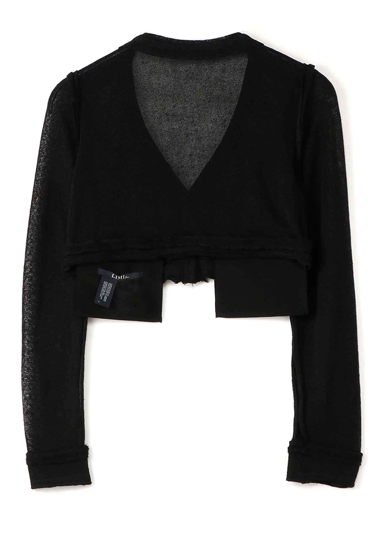 Li/Pe Knitted Plain Stitch Short Cardigan