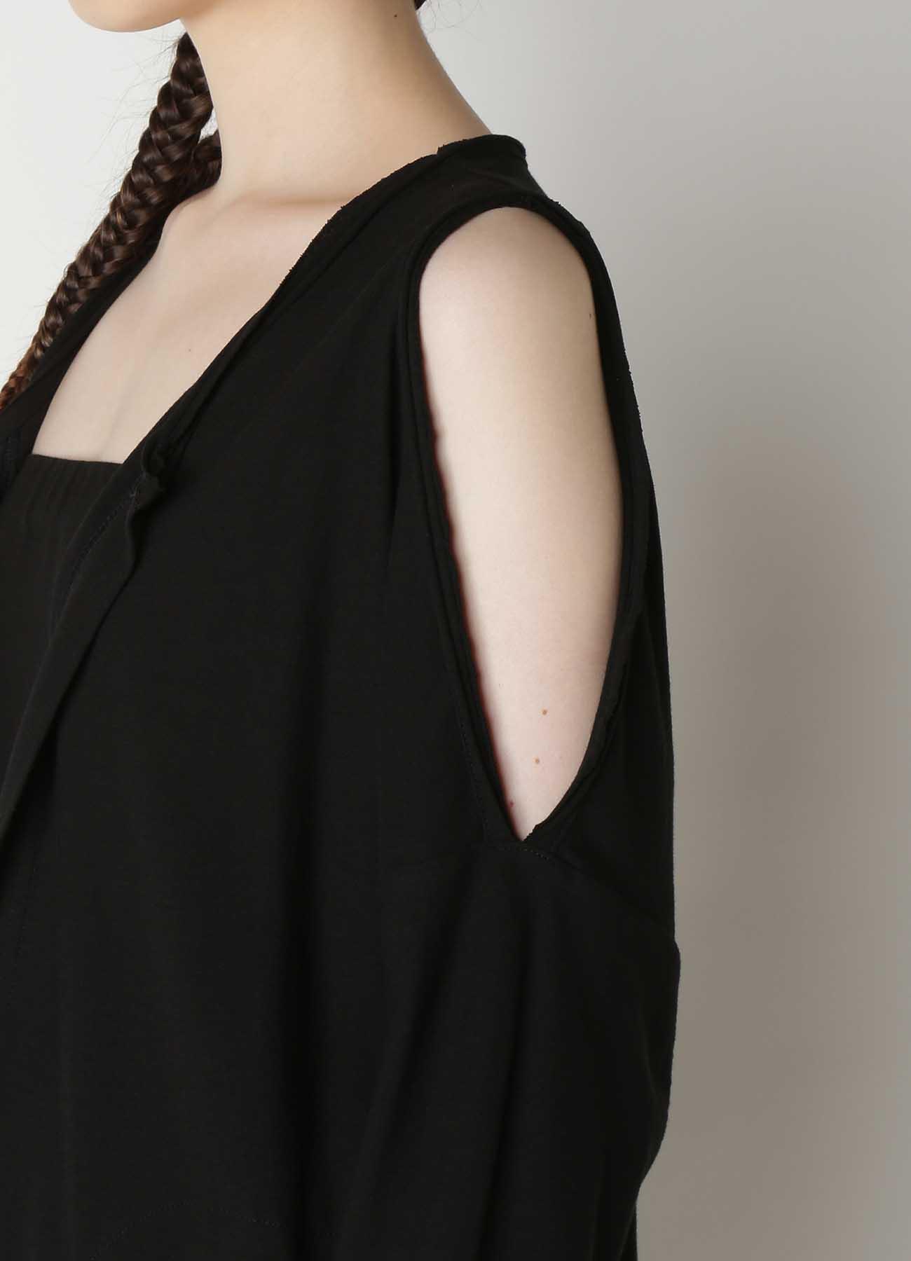 30/-sz Cotton Strong twisted Plain Stitch Shoulder Off Cardigan