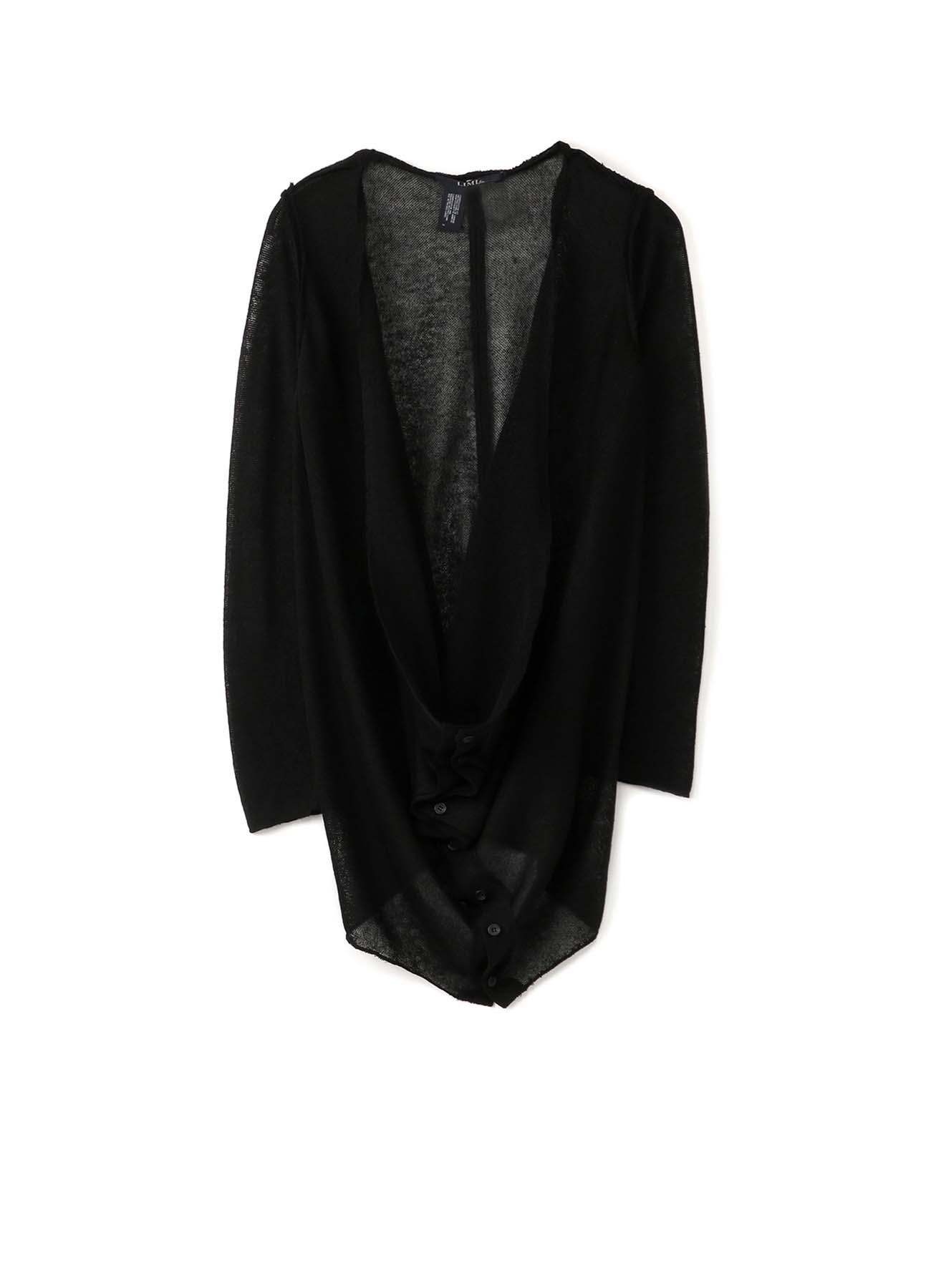 Li/Pe Knitted Plain Stitch Front Draped Cardigan