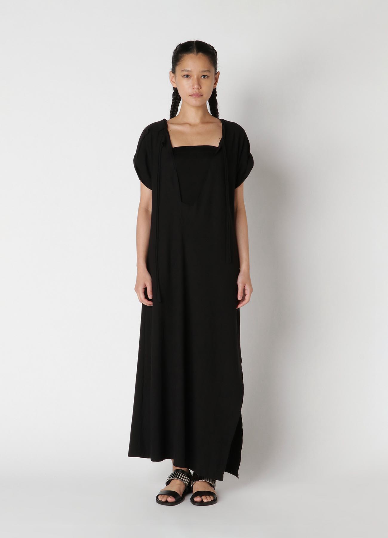 30/-sz Cotton Strong twisted Plain Stitch Asymme Design Dress