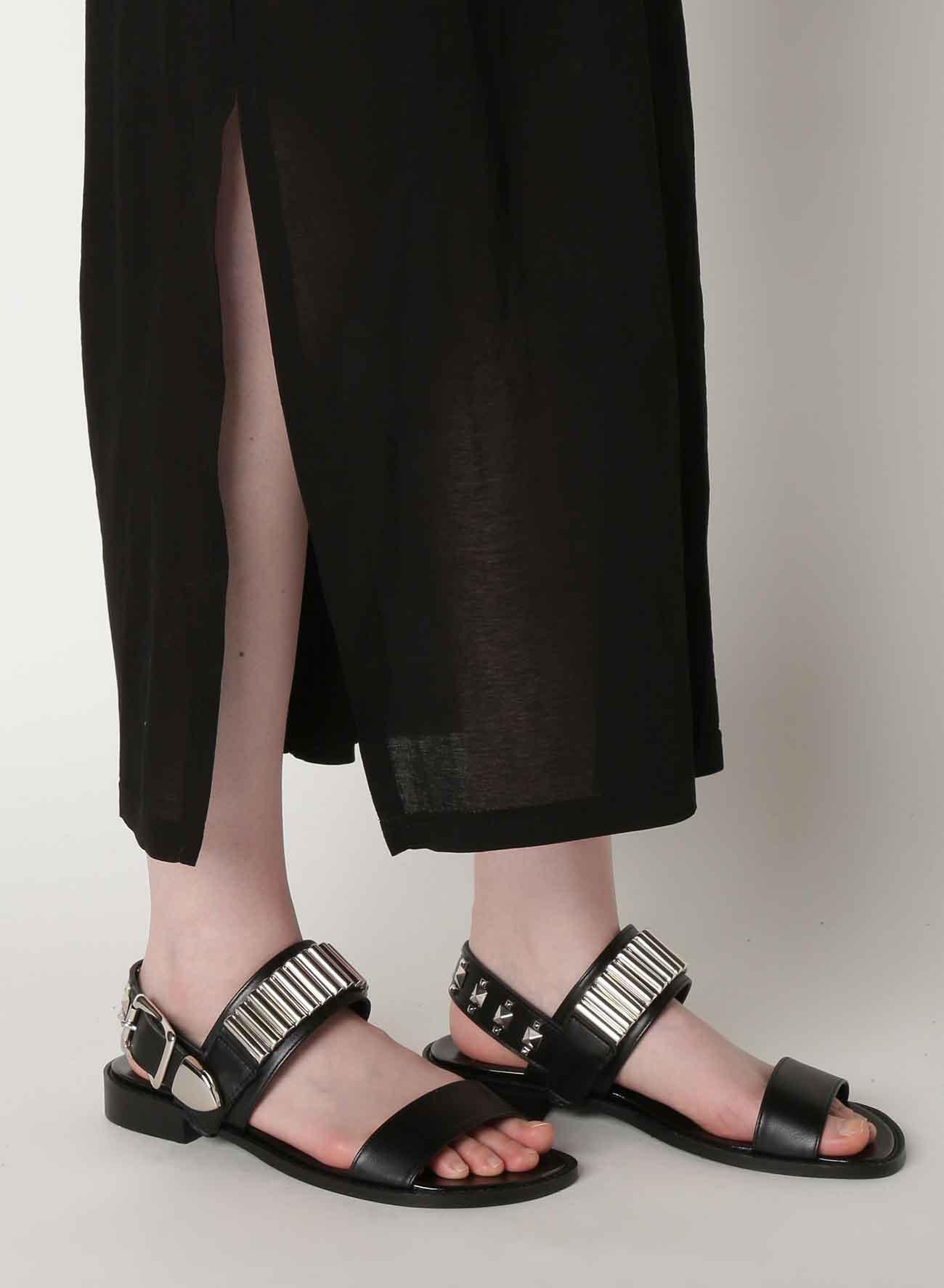Cotton Crepe Plain Stitch Mix Layered Design Dress