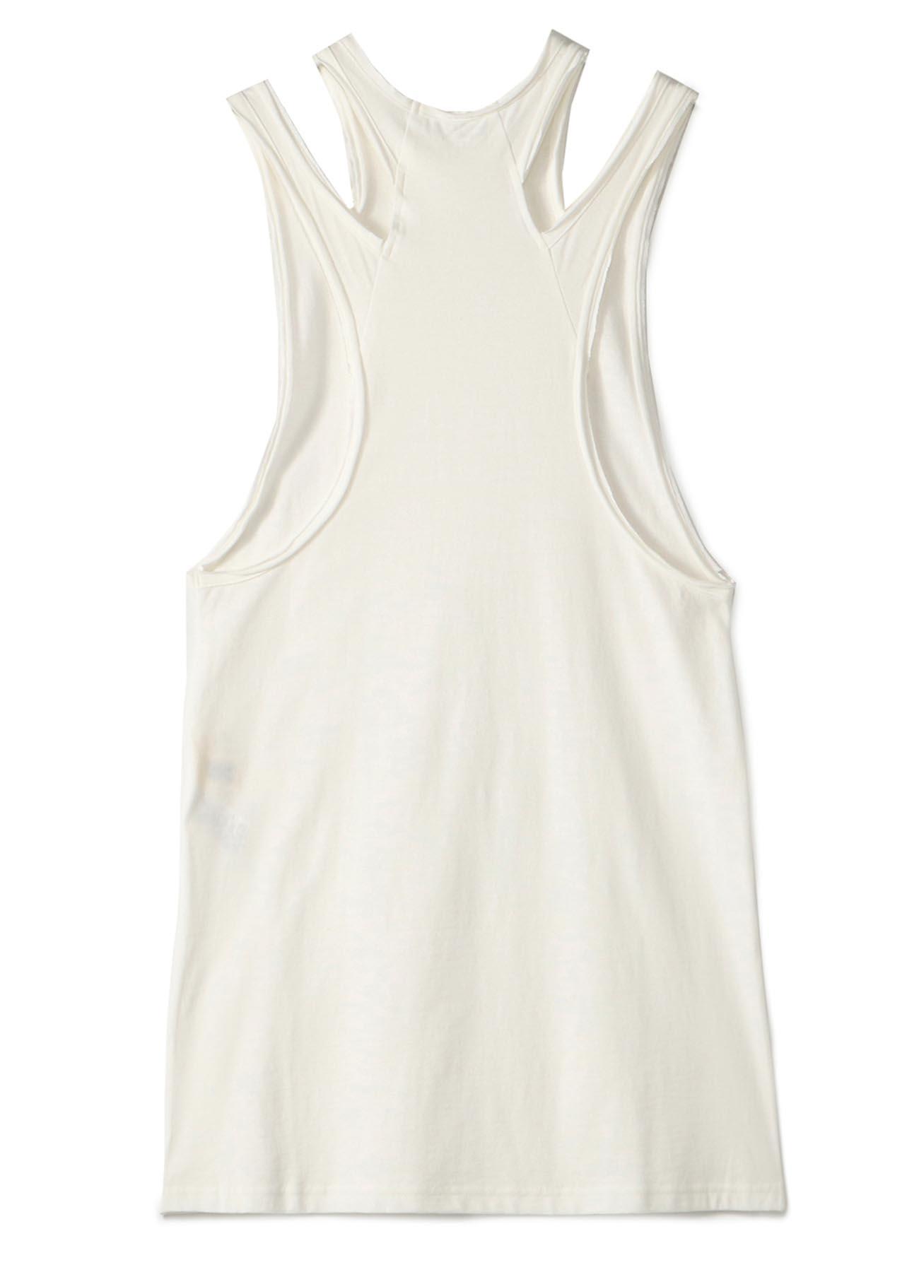 30/-sz Cotton Strong twisted Plain Stitch Shoulder Slit Dress