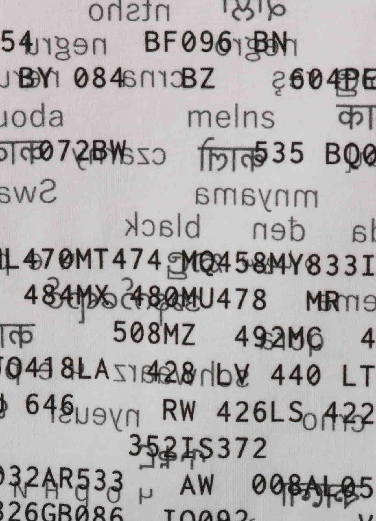Nation Code Print B Tube Top