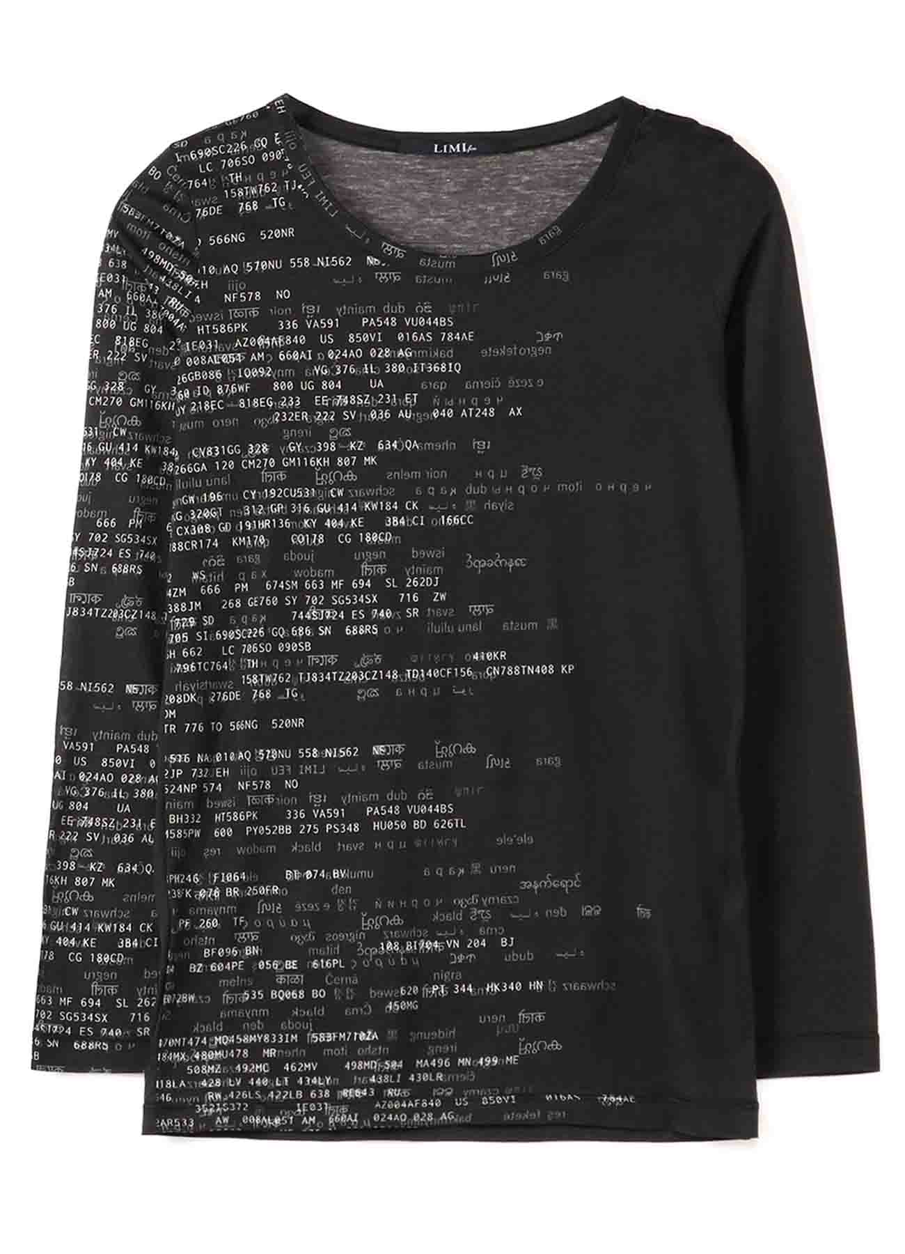 Nation Code Print A Normal Long T