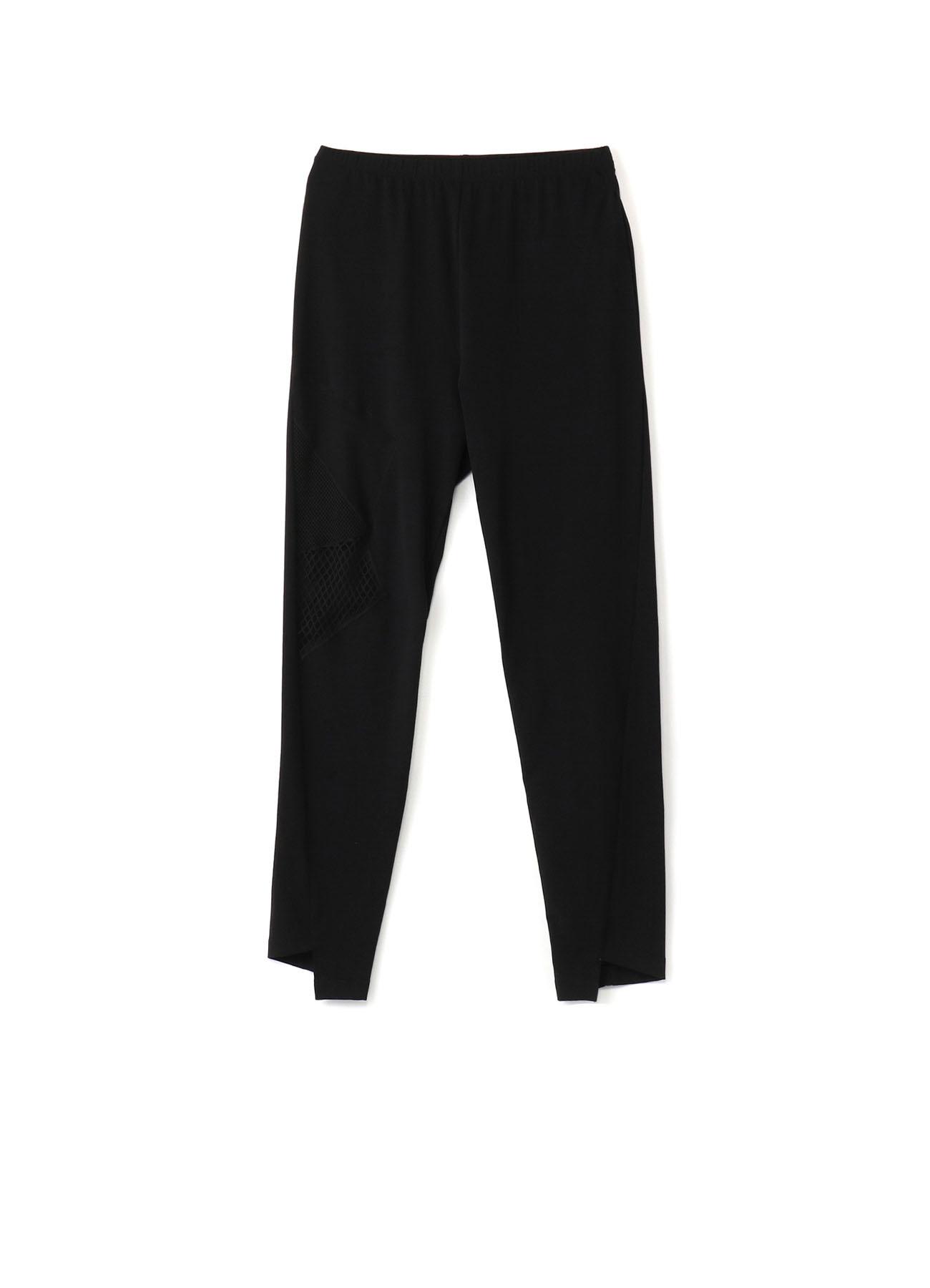 Mesh Patchwork B Twist Pants