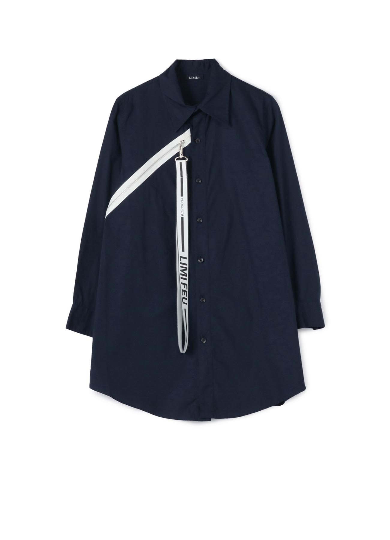 Cotton Broad Zip Shirt