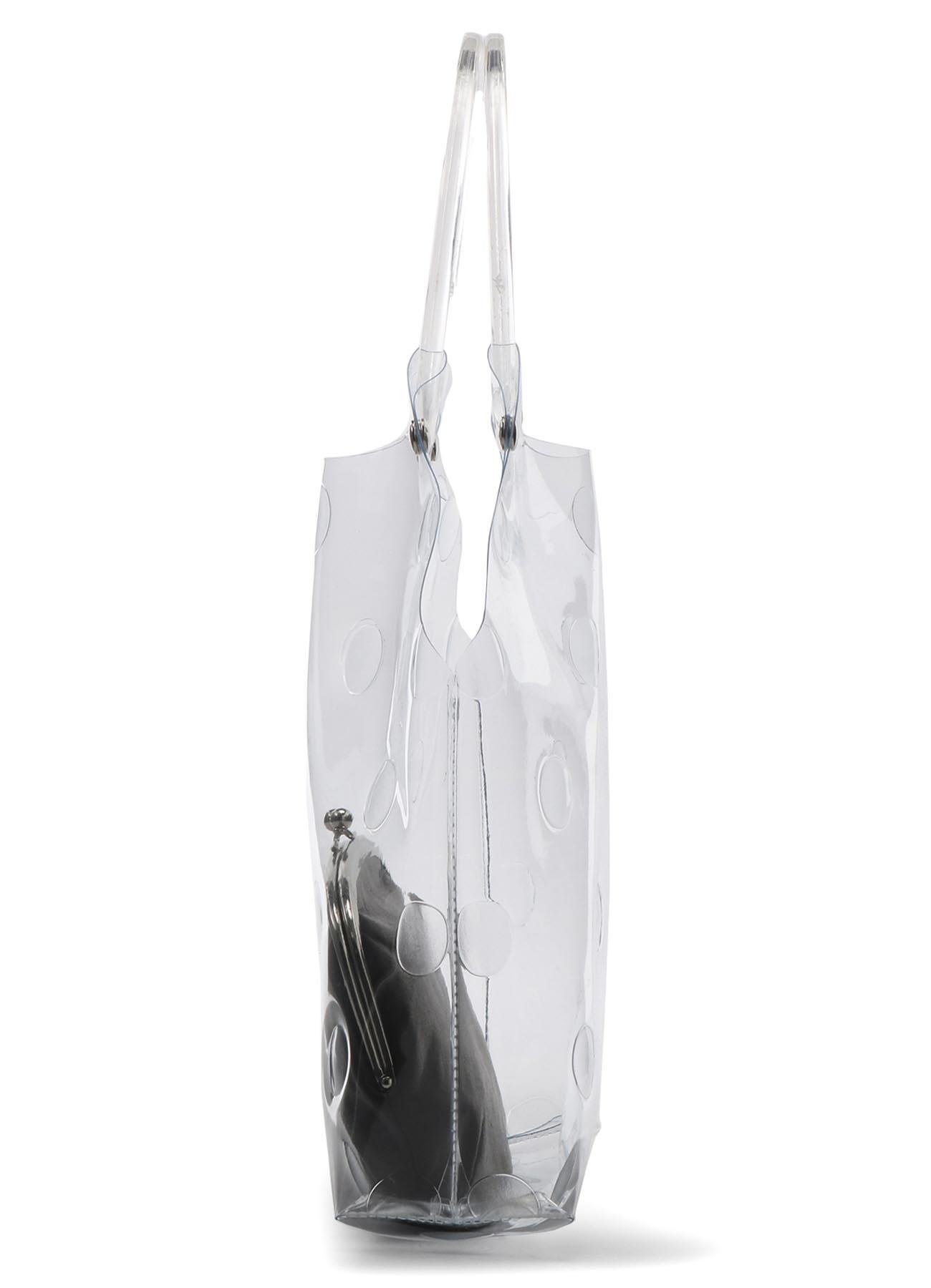 PVC 圆点图案手提包