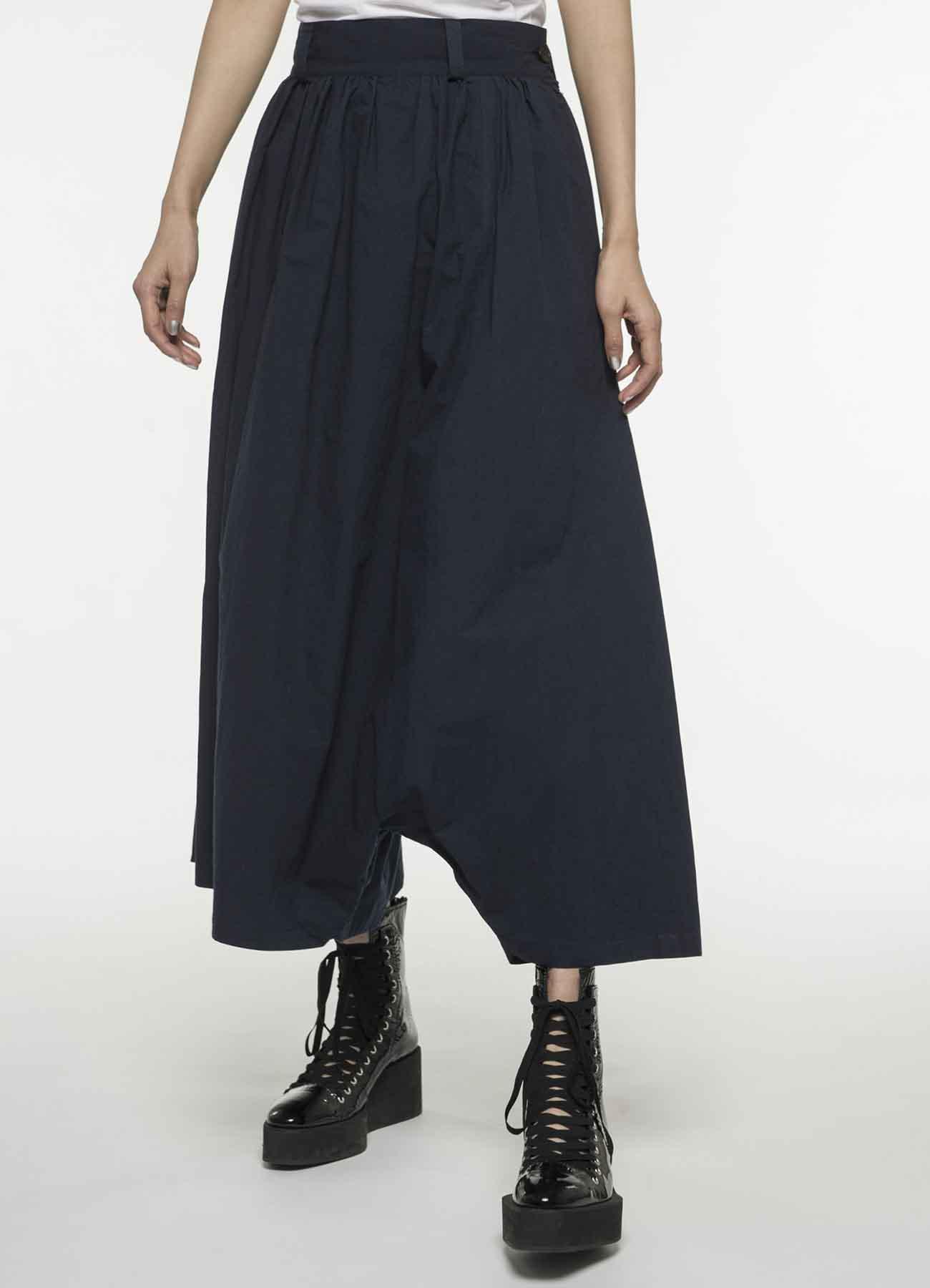 变形褶皱裤裙