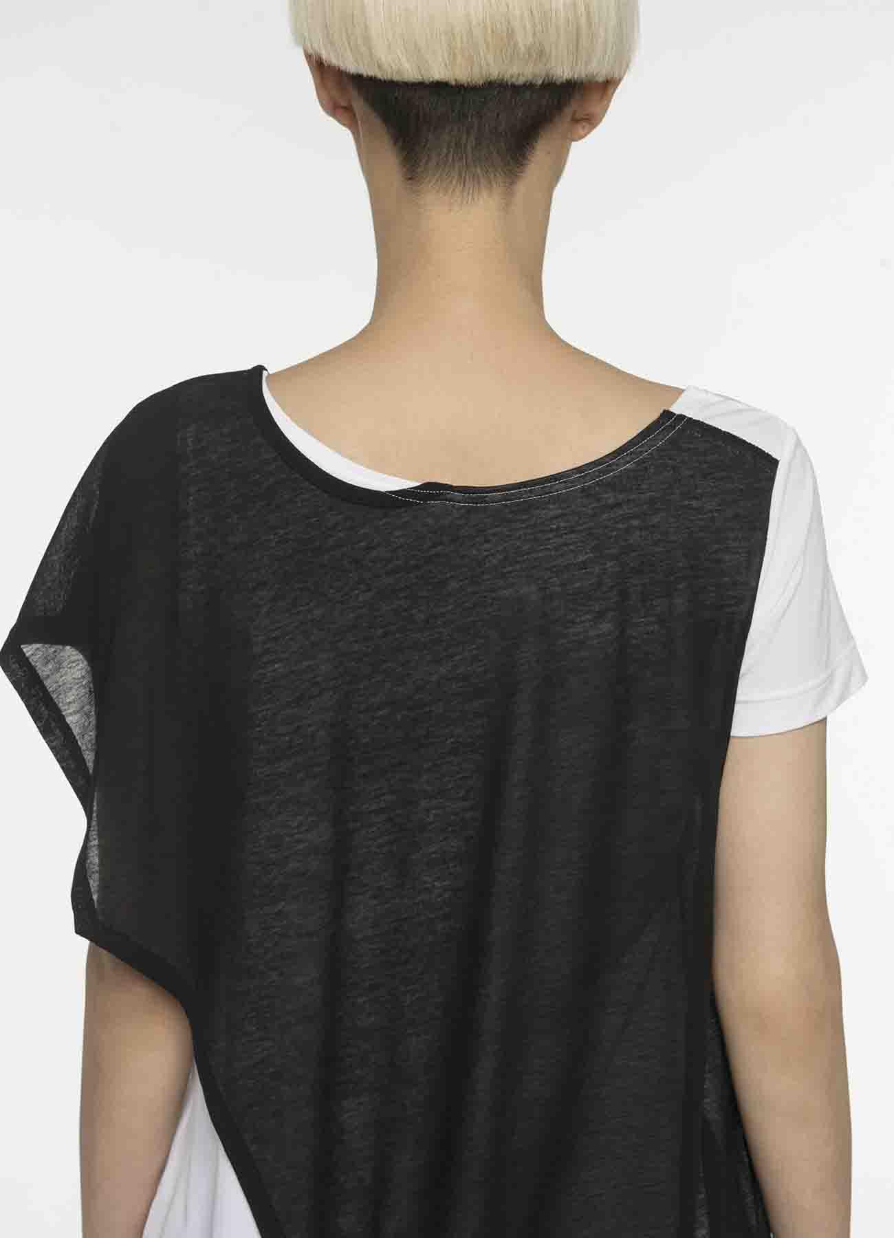 不对称设计叠穿风T恤
