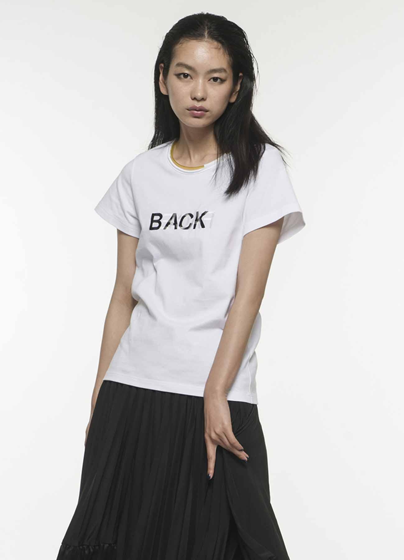 BACK&FACE 刺绣T恤