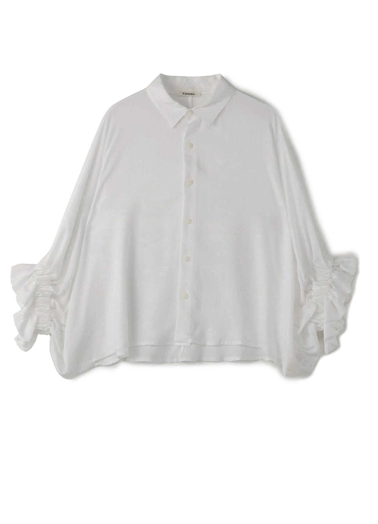 泡泡袖短款衬衫