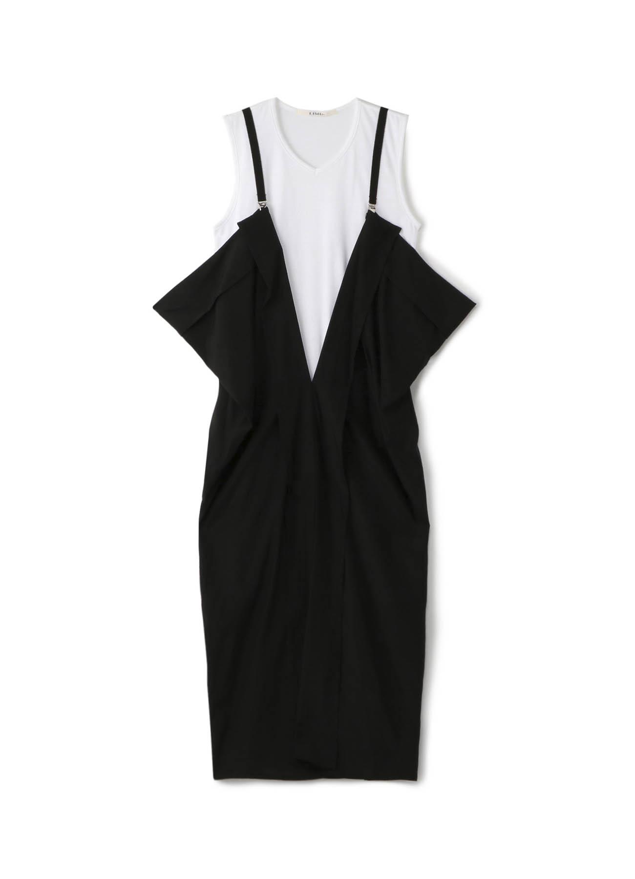 深V背带连衣裙