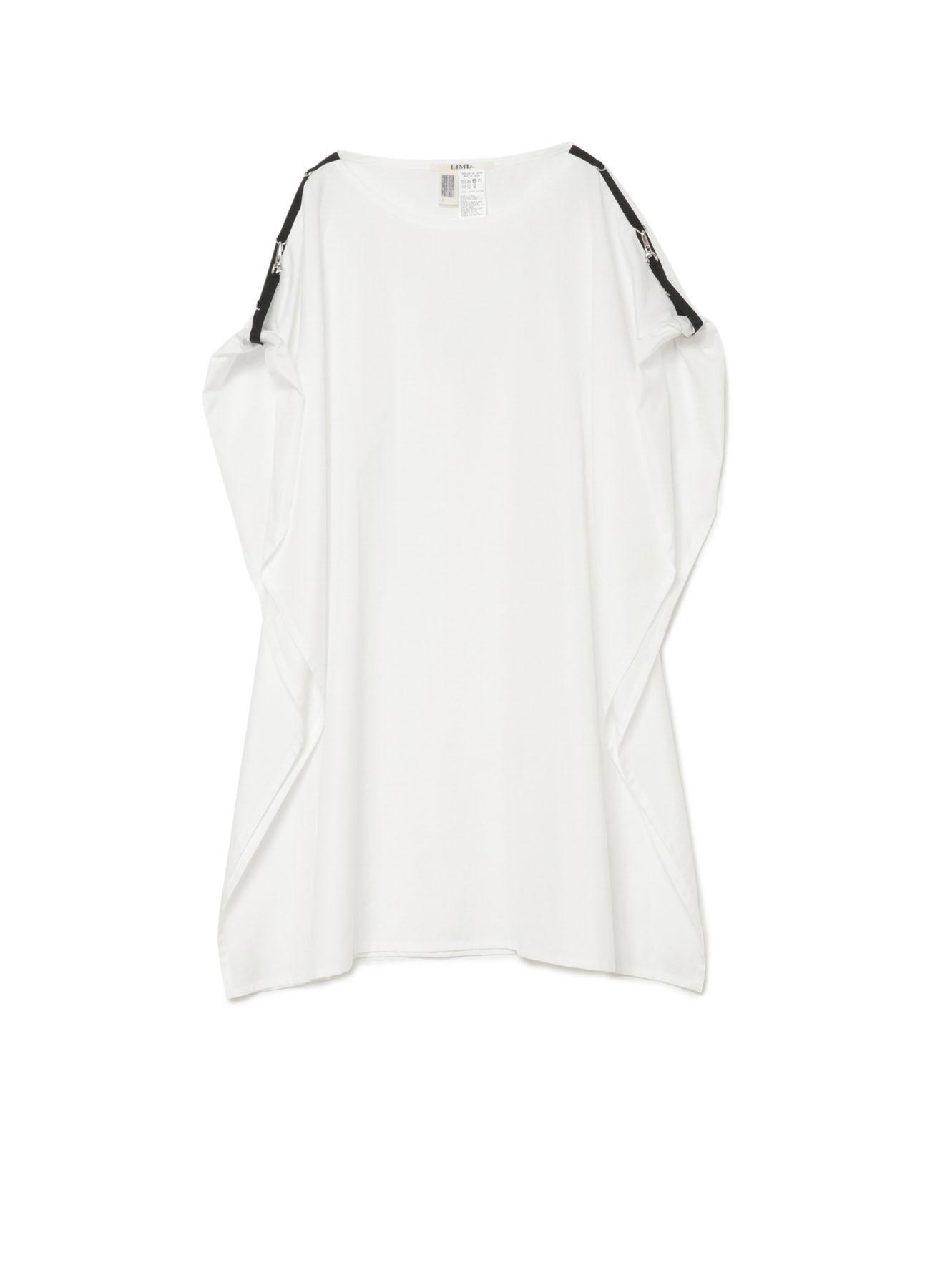 肩部带扣设计长款宽松无袖T恤