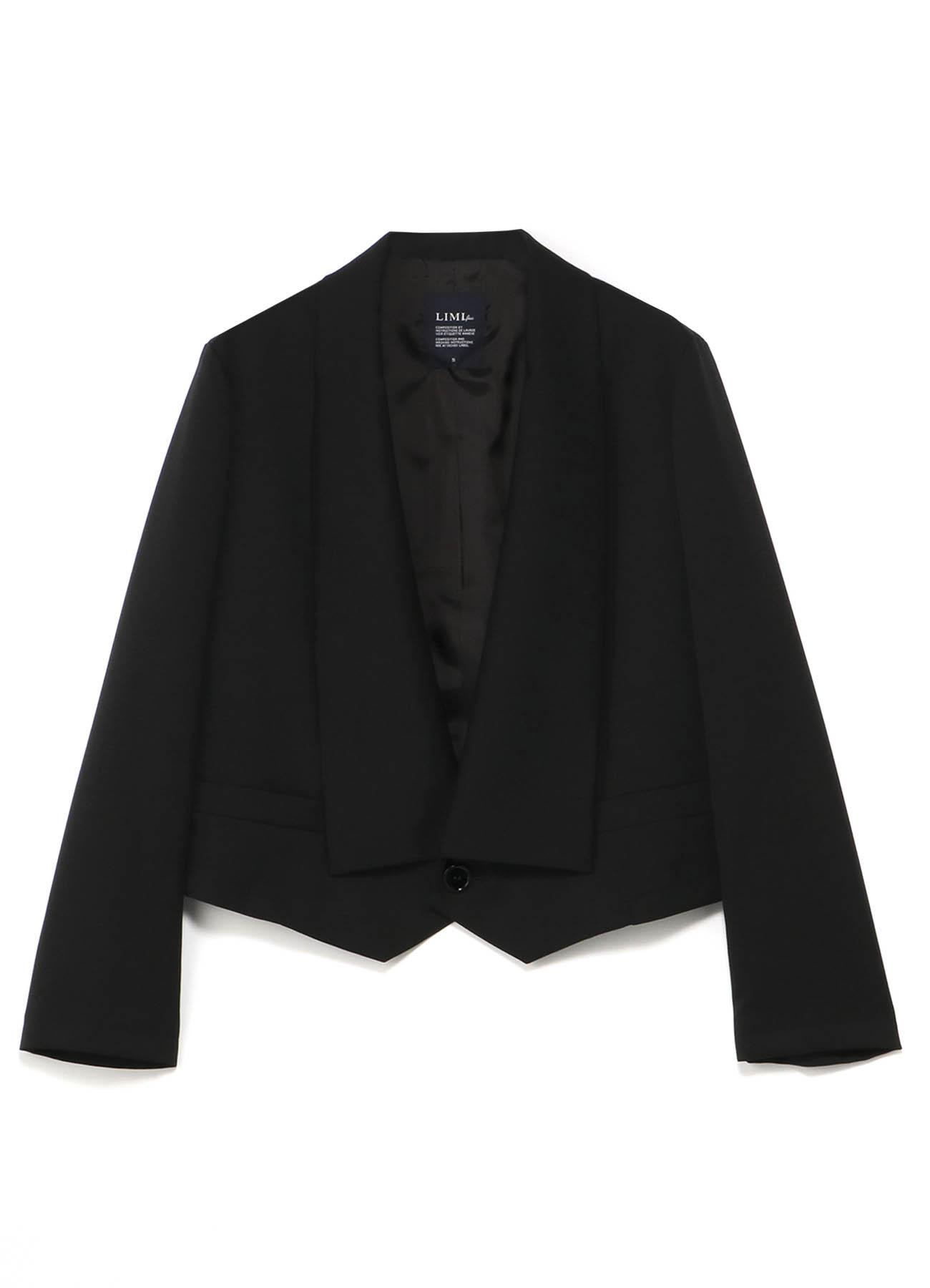 华达呢羊毛短款西装夹克