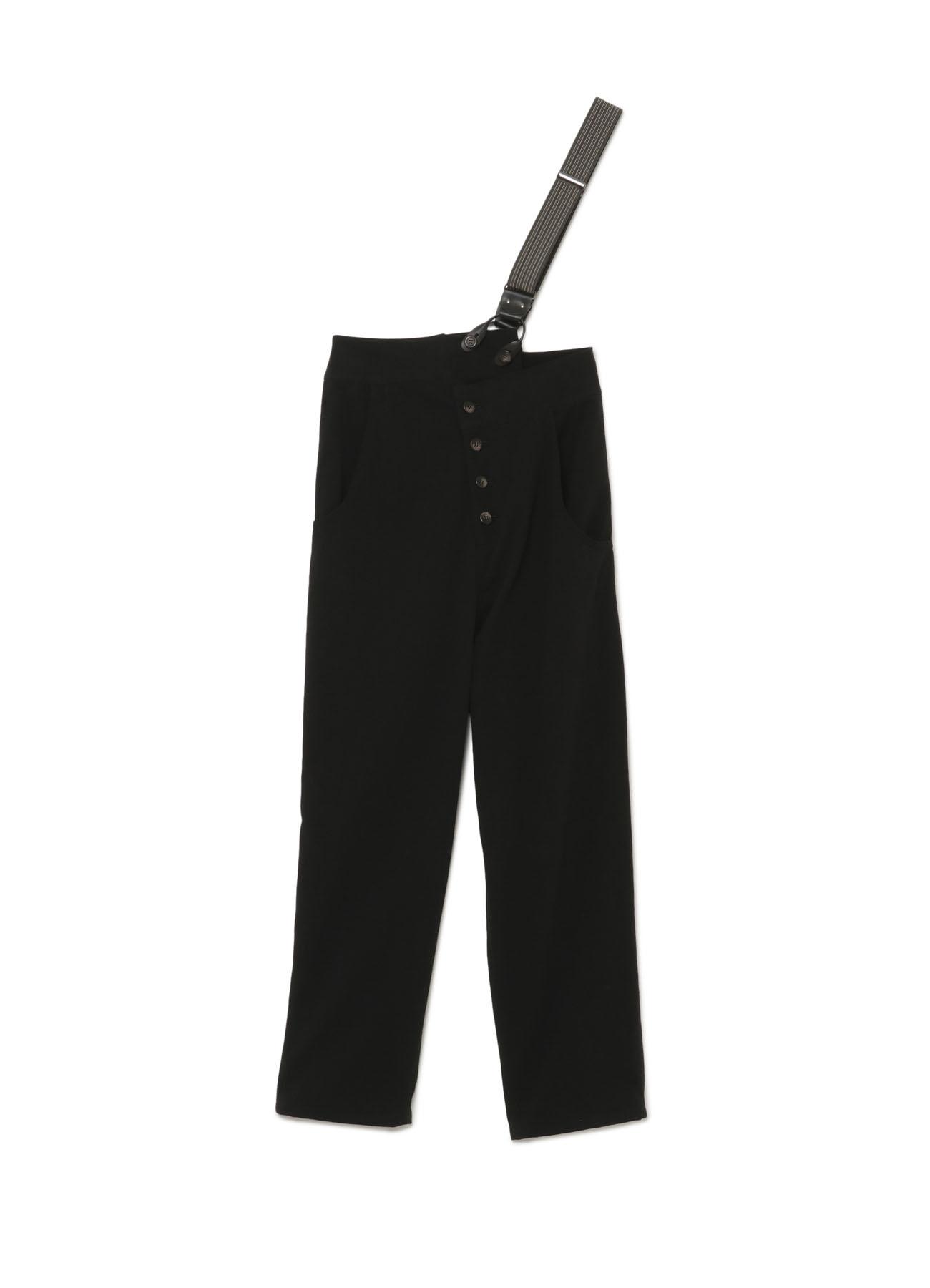 单侧背带长裤