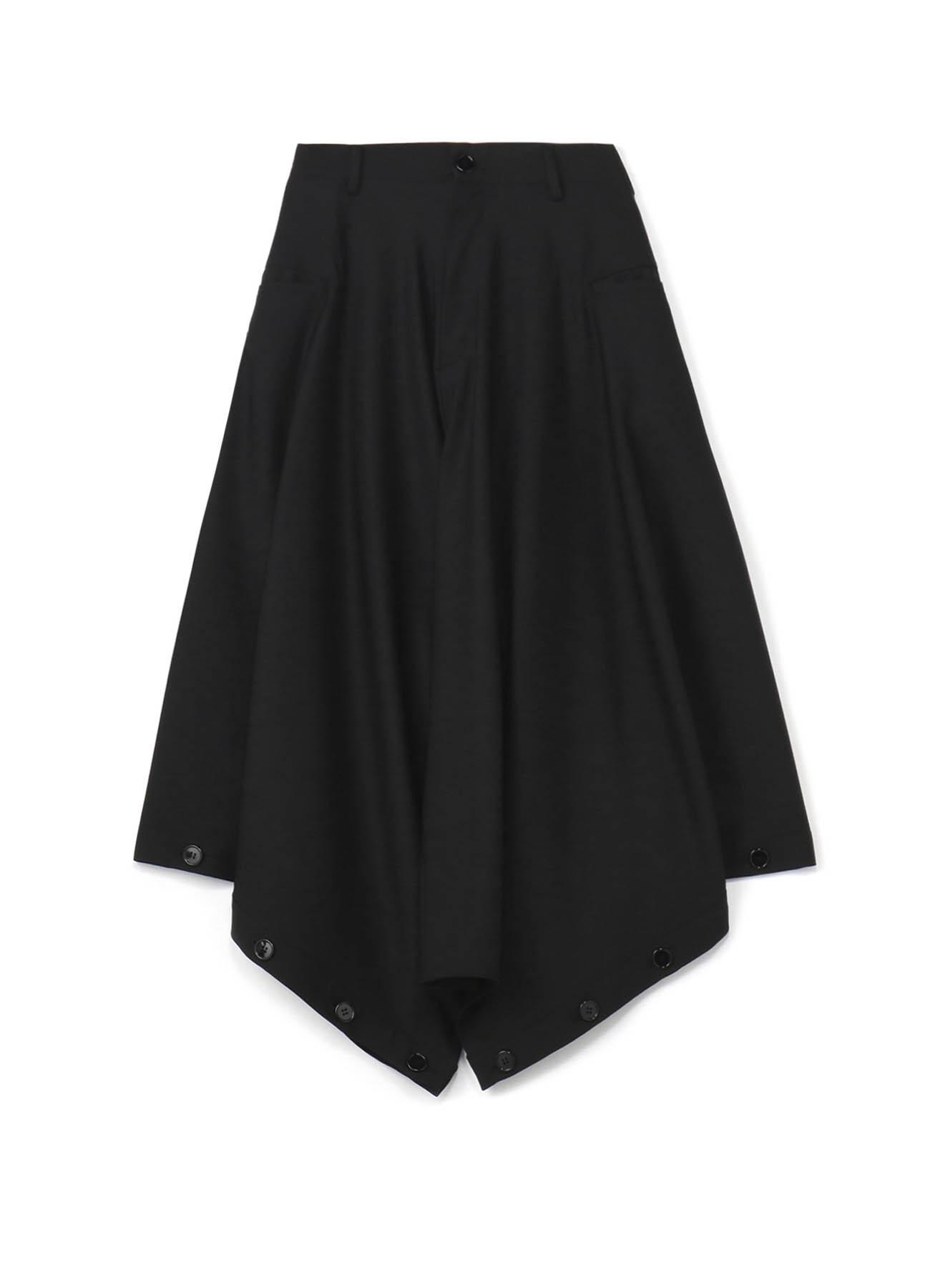 羊毛混纺可调节纽扣宽裤